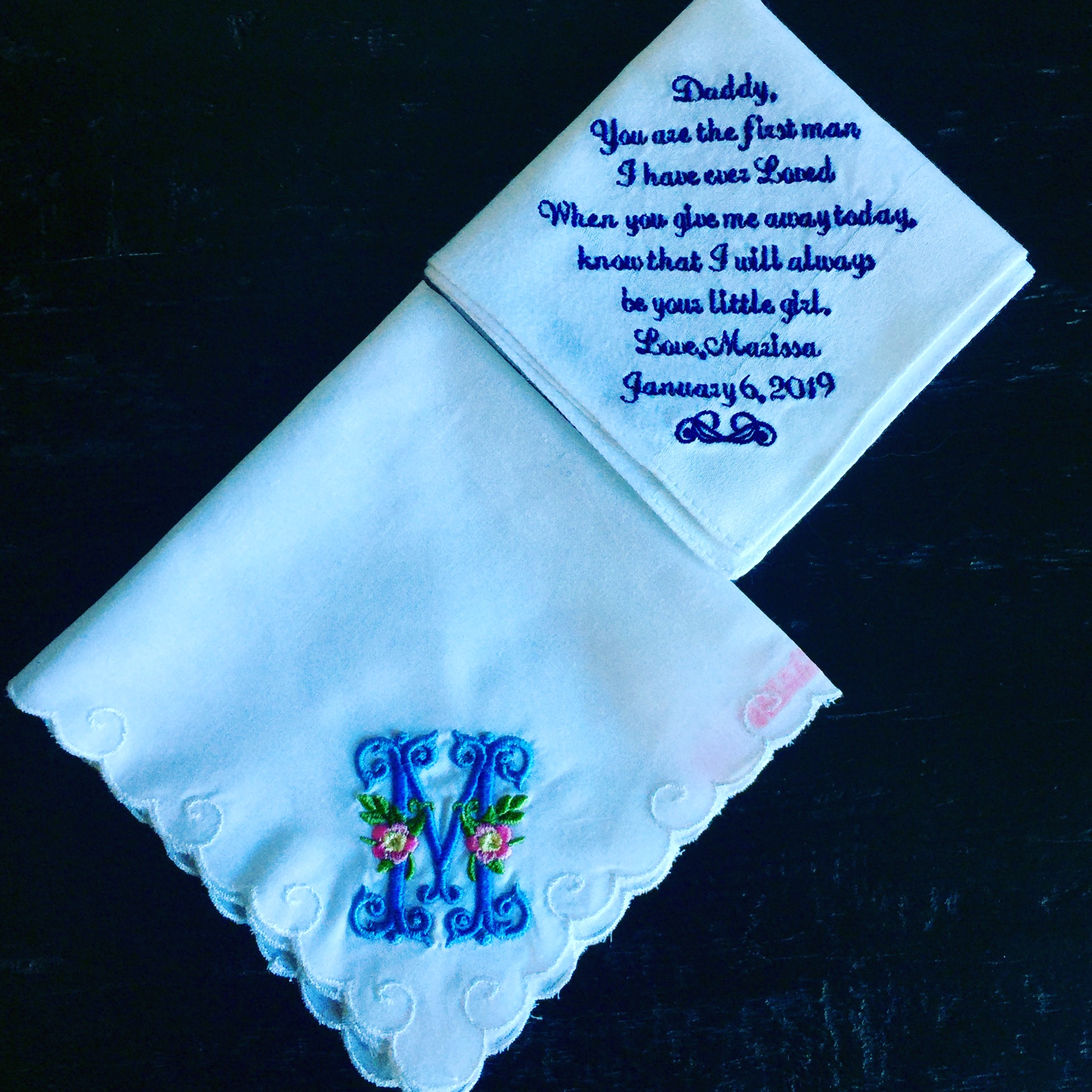 Melissa custom wedding handkerchief.JPG