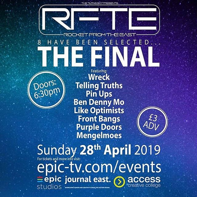We are looking forward to the final of Rocket from the East! Get your tickets and join us 🙌 #newmusic