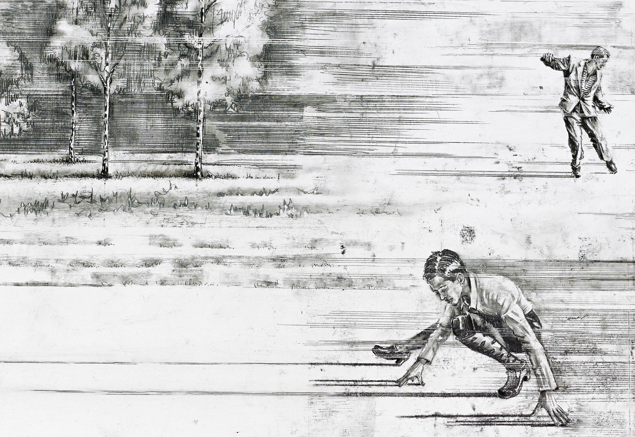 einen originalen Tierschatten zwischen den Füssen durchscheissen sehen wollen, – warten, warten, warten wanting to see an original animal shadow shoot beneath one's feet– waiting, waiting, waiting