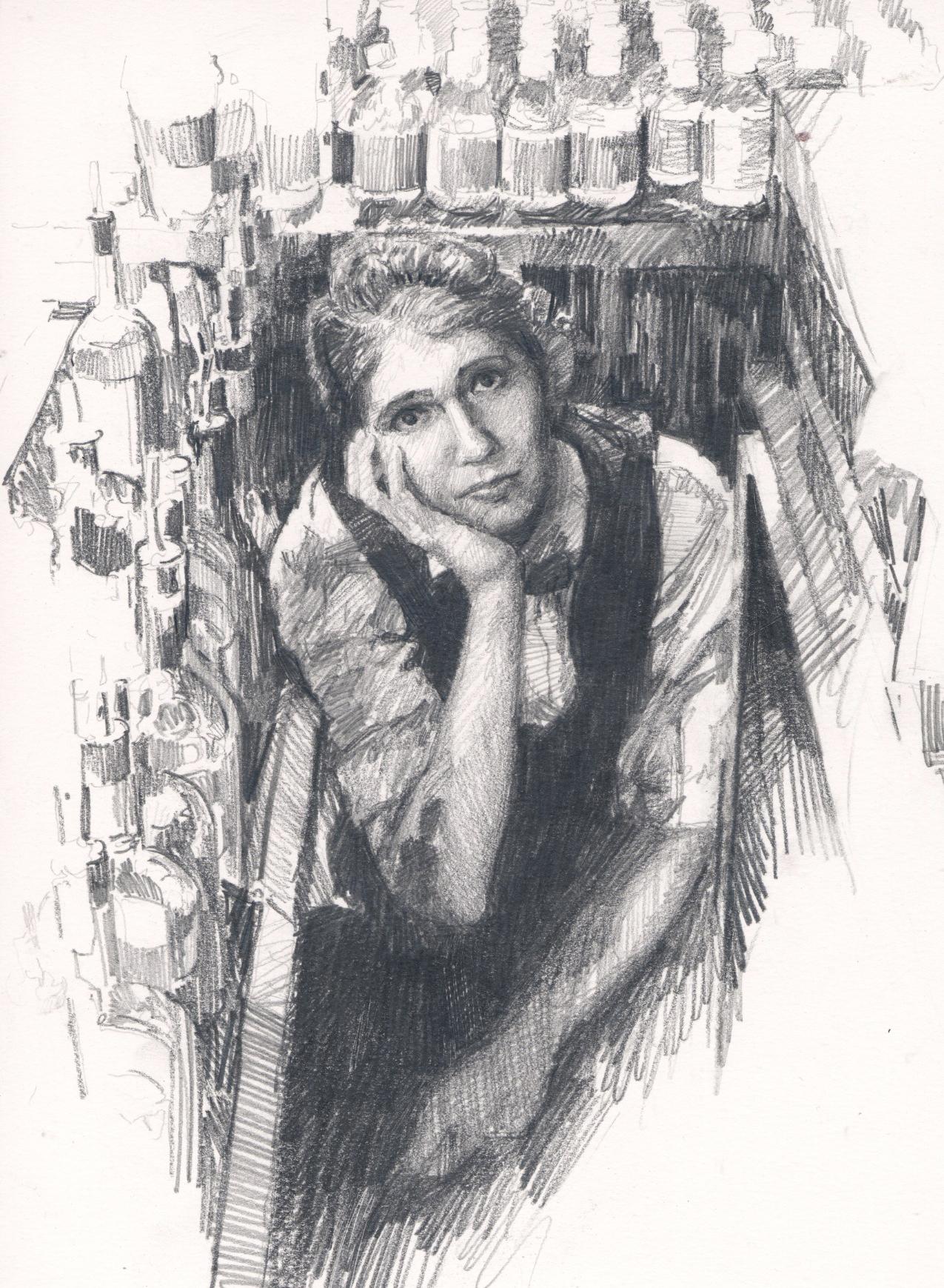 Drawing by Stephen Gardner