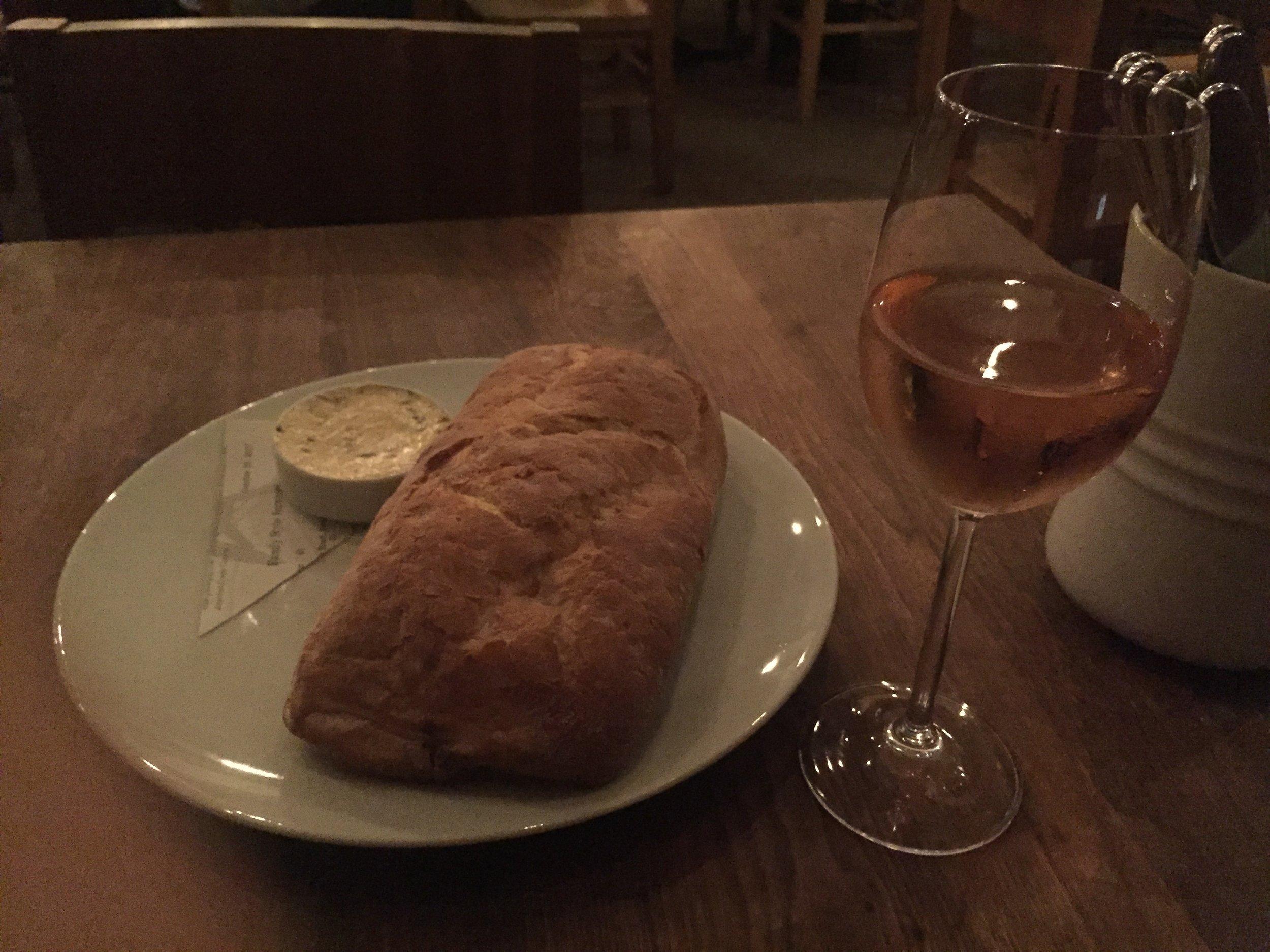 underbelly - wine and bread.JPG