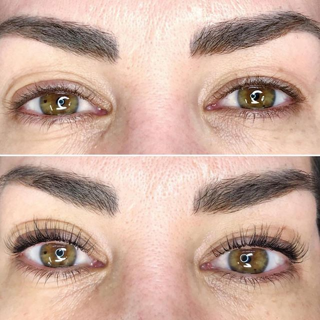 LASHES FA DAYS! This is a before and after for the Keratin Lash Lift. No mascara or lash extensions here!  Lash Lift by: @wtf.lashco at @hairylittlethings