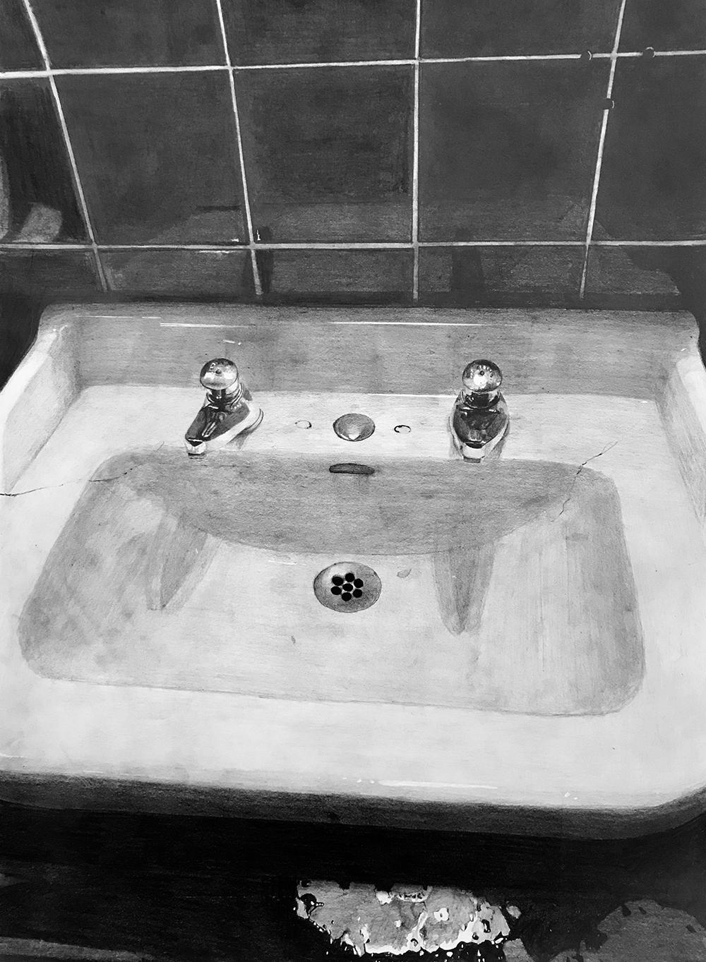 Solitude Contemporaine - Série de dessin au crayon graphite, 2018-2019