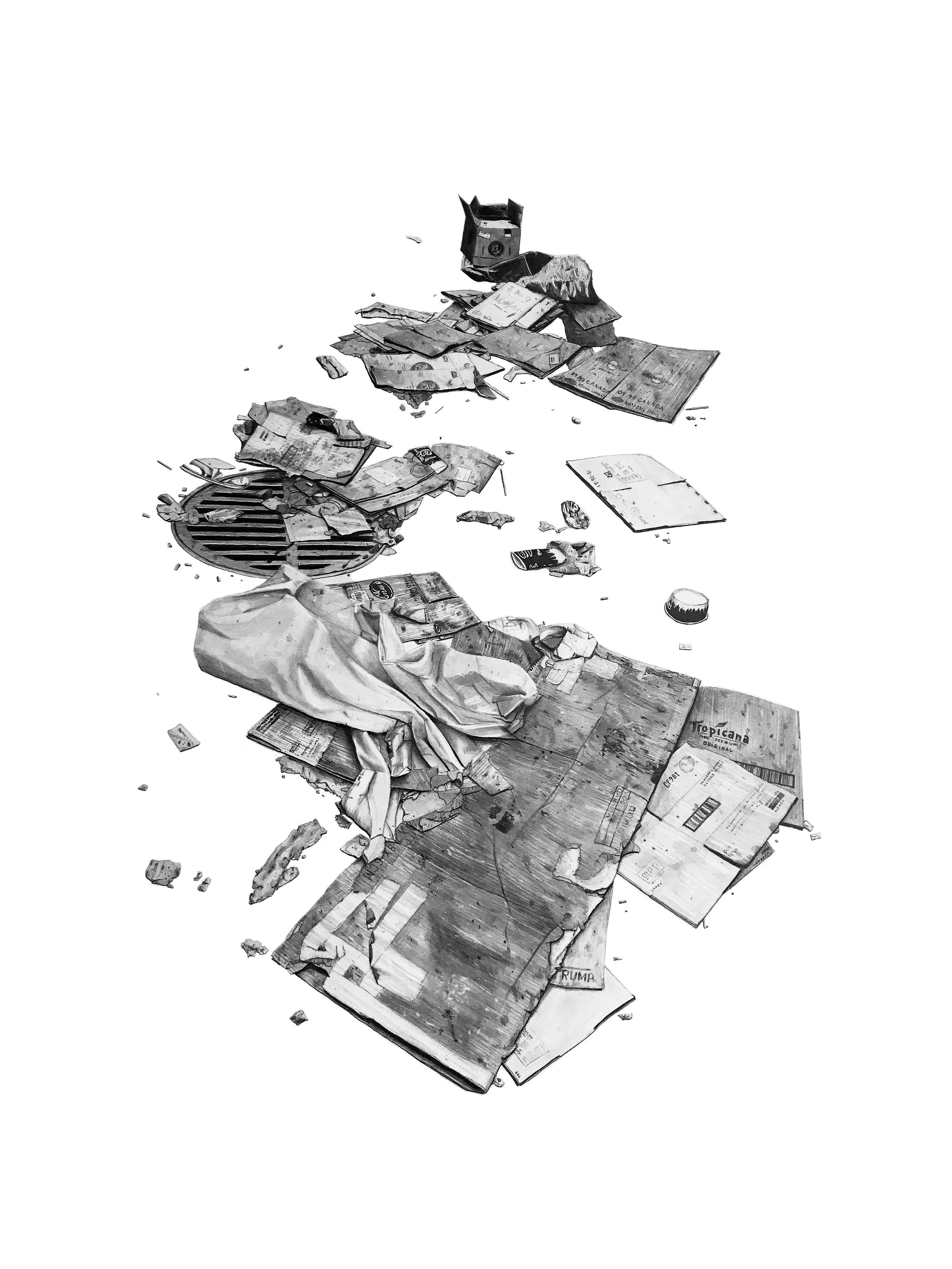 Des-Compositions - Série de dessin au crayon graphite 2019
