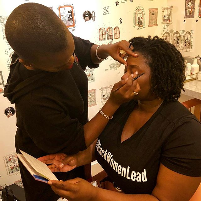 Getting the glam treatment before hosting duties begin. You can watch live starting at 8pm on Facebook #BlackWomenLead