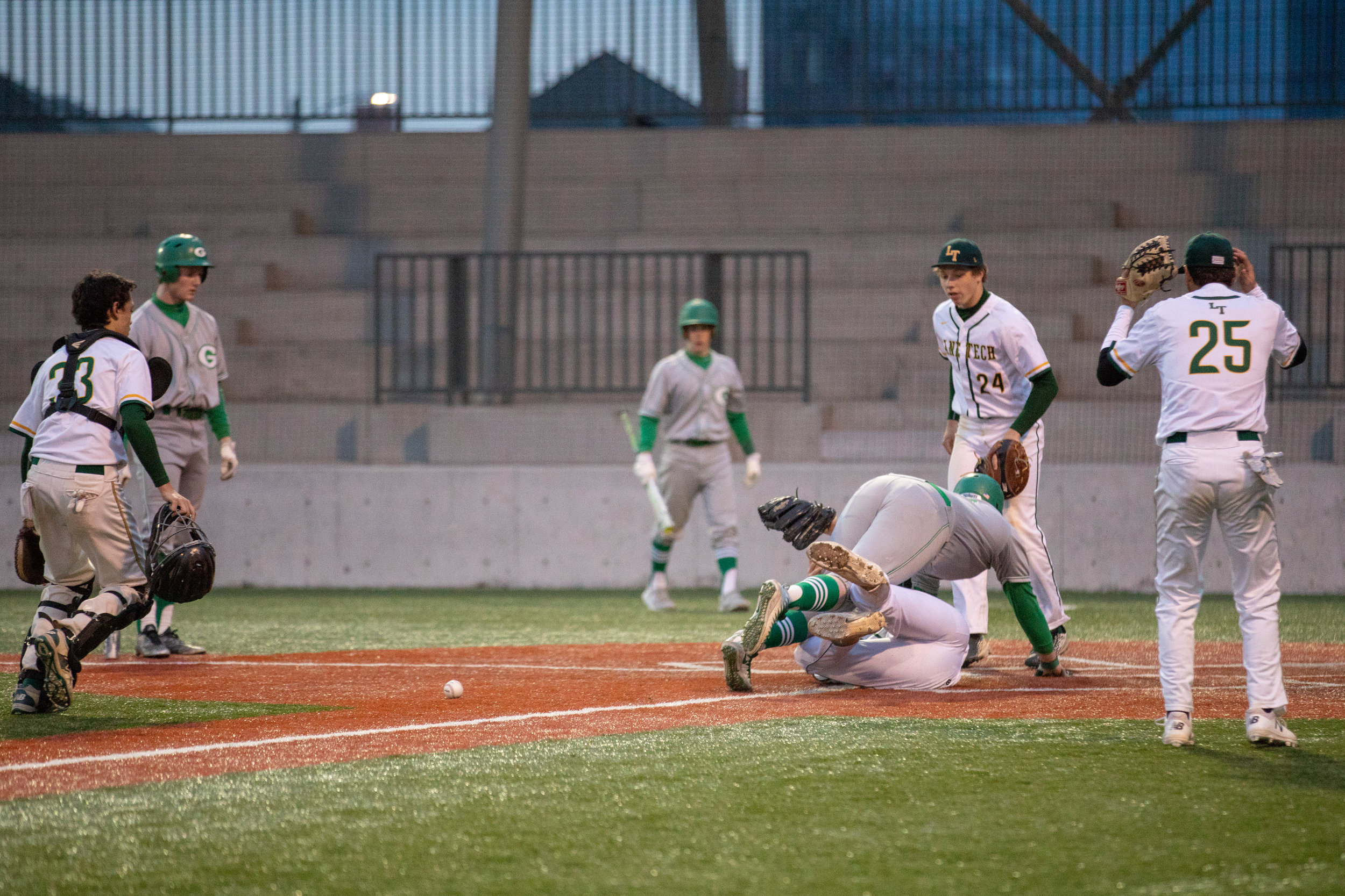 Lane Tech play at the plate