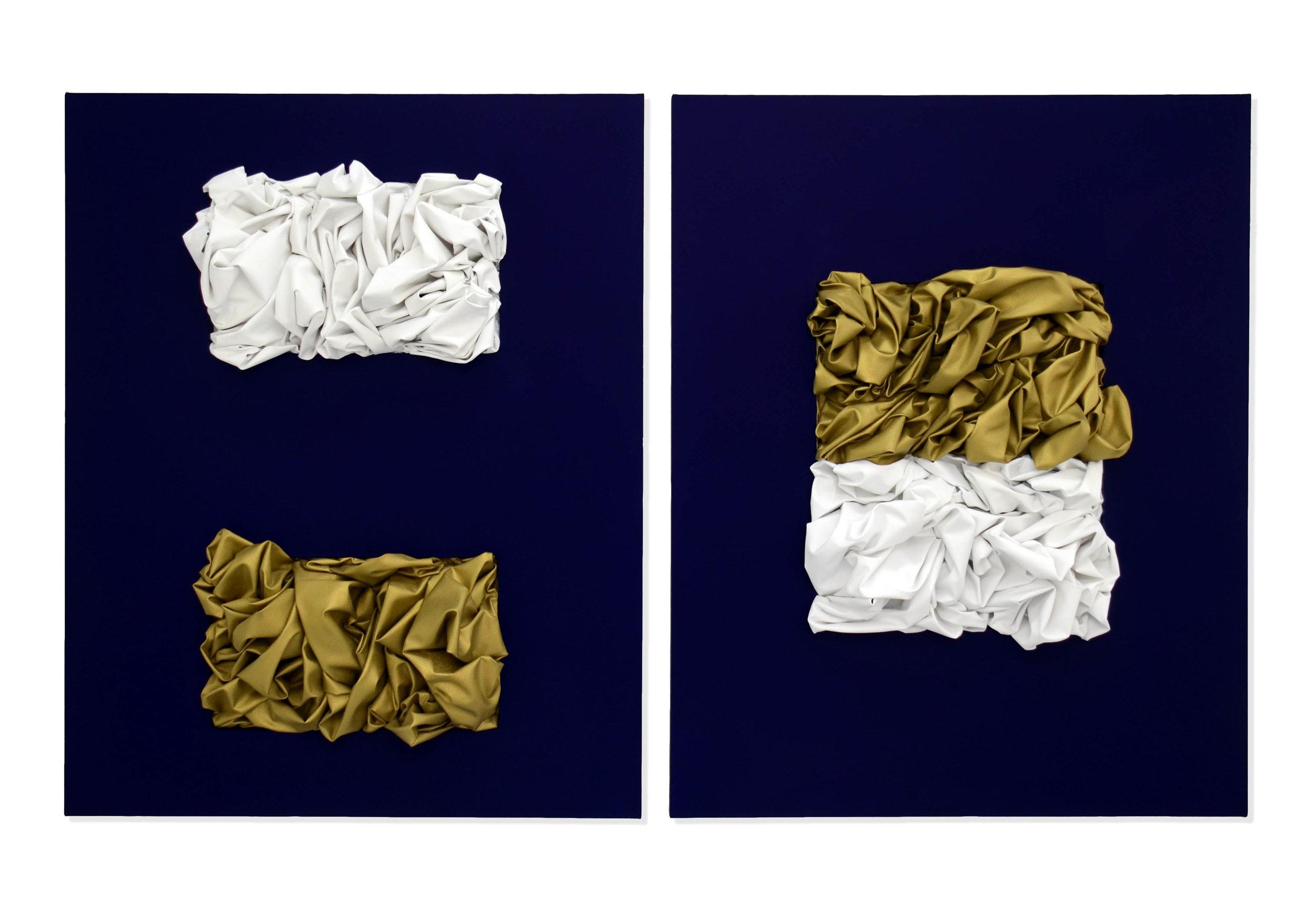 The Annunciation  2017  Pigmento acrilico e bomboletta spray su tela  125 x 100 cm (ciascun dipinto)