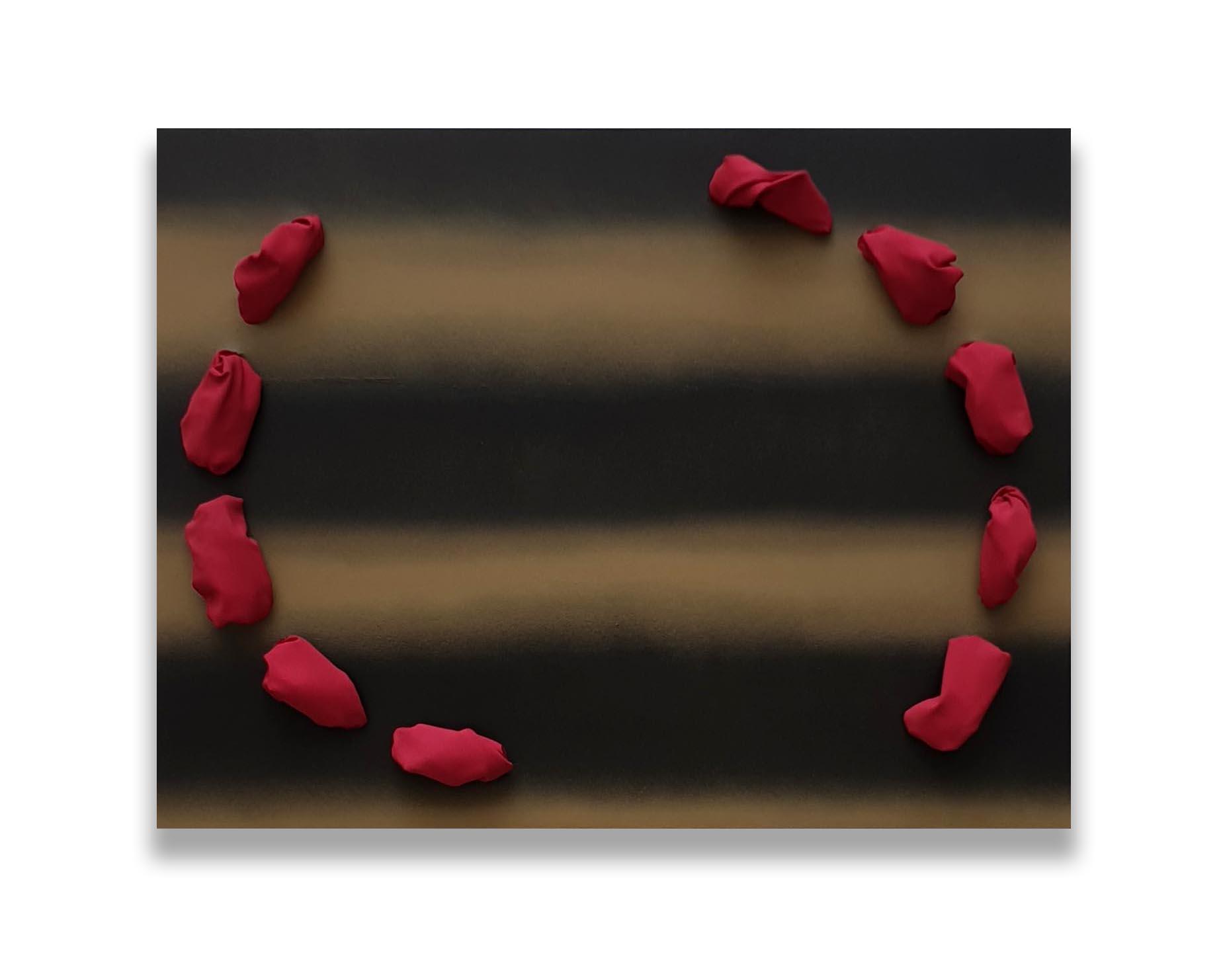 La Sera  - 2019  Pigmento acrilico e bomboletta spray su tela tesa su tavola  60,3 x 79,2 x 13,2 cm