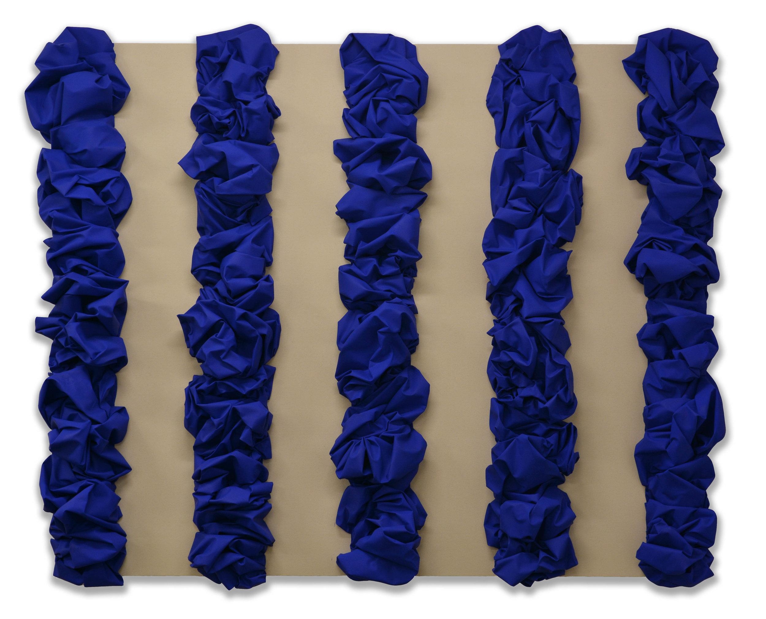 Cobalt - Raw - Cobalt  - 2018  Bomboletta spray su tela, applicata su tela di cotone grezza, stesa su tavola  180 x 220 cm