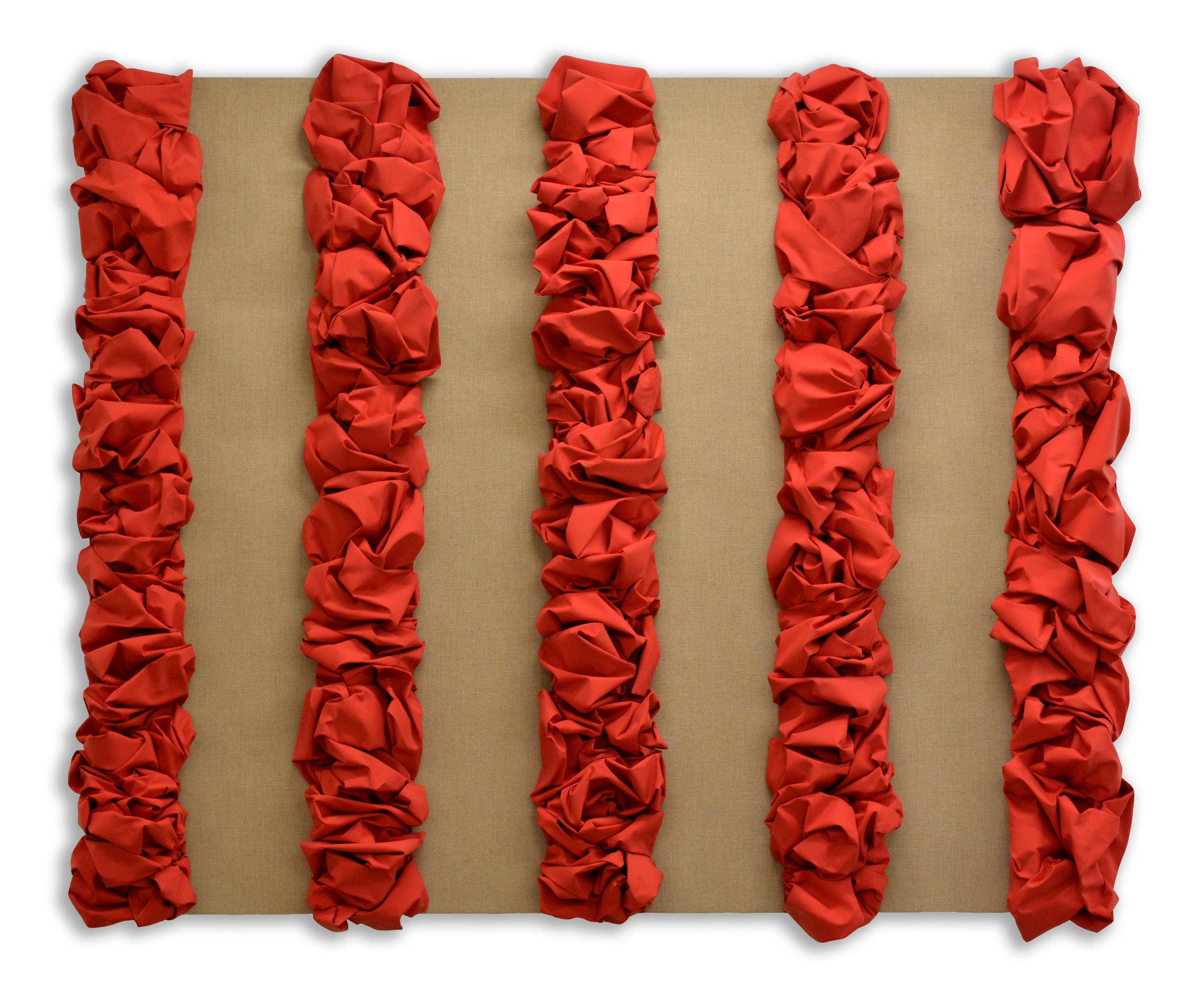 Cadmium - Raw - Cadmium  - 2018  Pigmento acrilico su tela, applicata su tela di lino grezza, stesa su tavola  180 x 220 cm