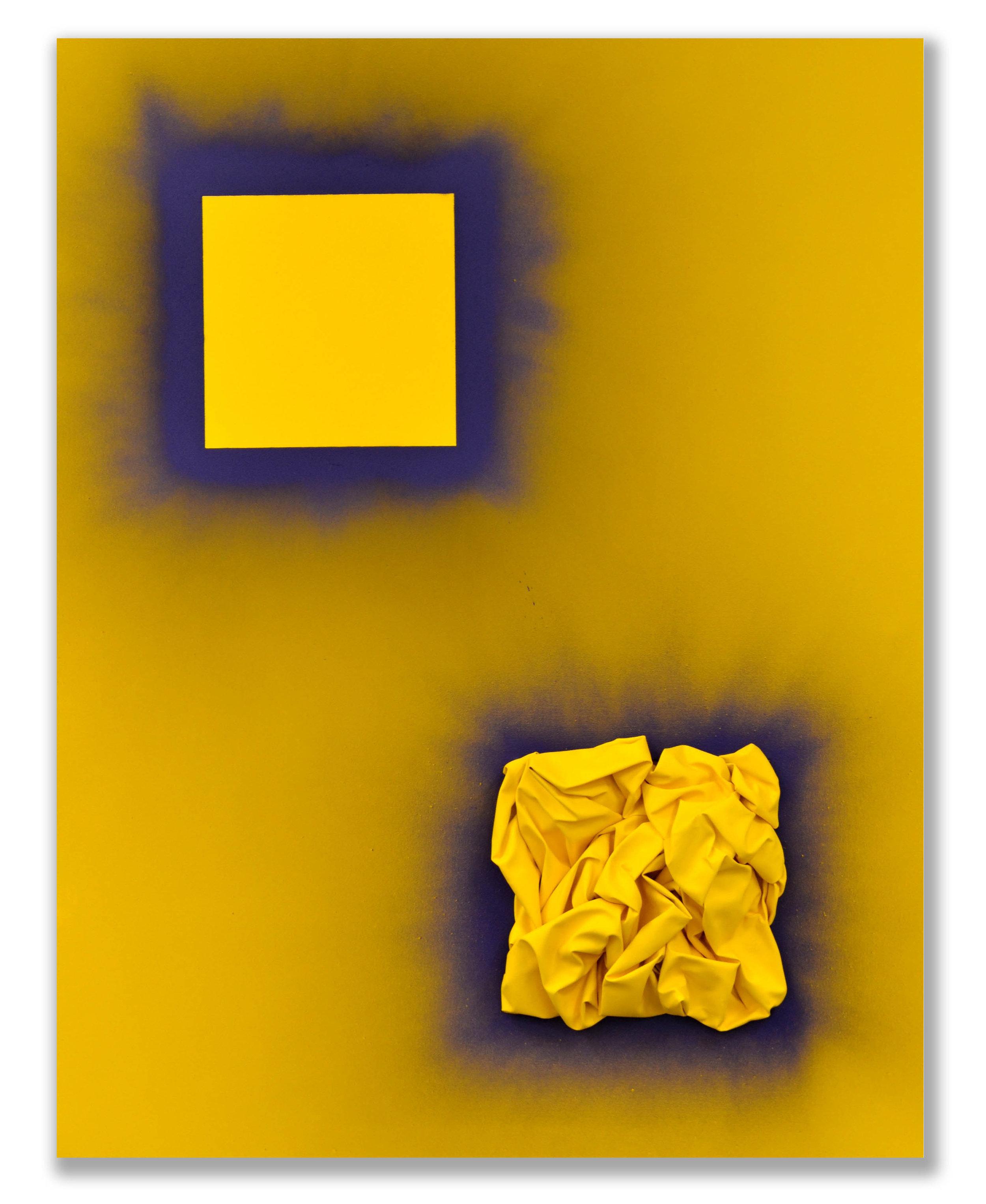 Occurring on Yellow  - 2018  Pigmento acrilico e bomboletta spray su tela  180 x 140 cm