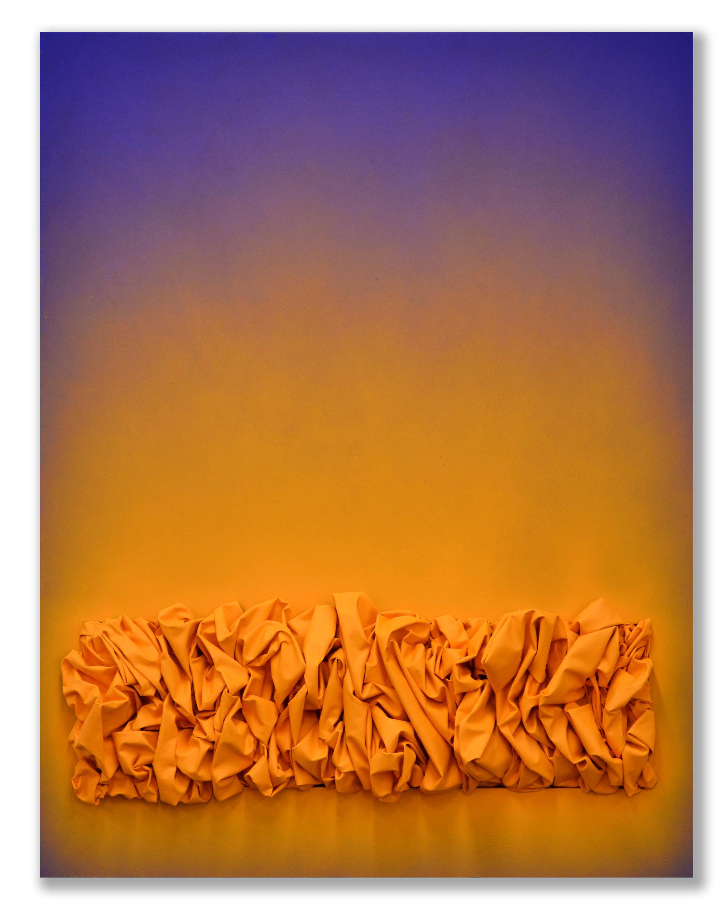 Spraying Cadmium Orange  - 2018  Pigmento acrilico e bomboletta spray su tela  180 x 140 cm  Collezione Privata