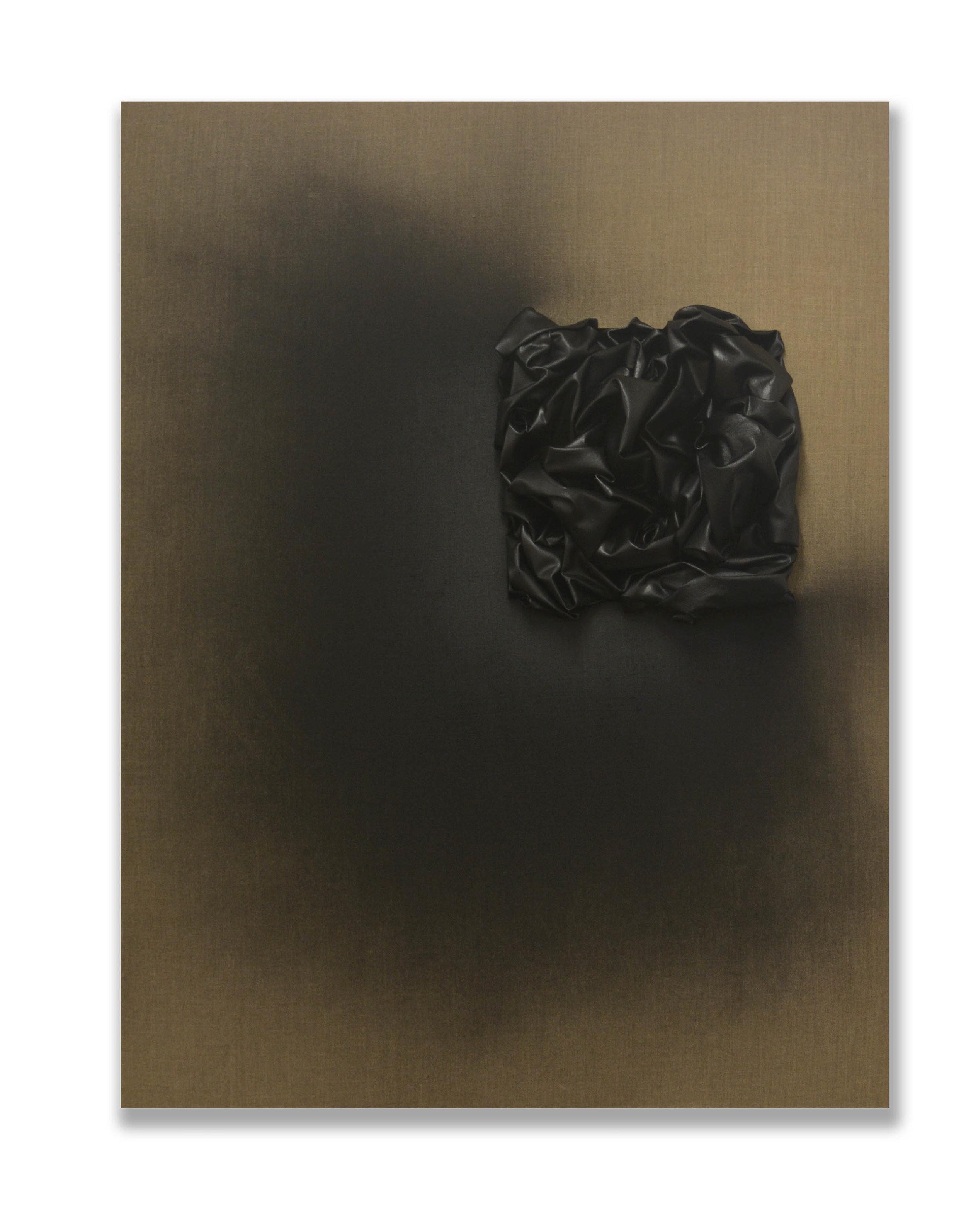 Raising Up Black Square  - 2018  Bomboletta spray su tela di lino grezza  130 x 100 cm