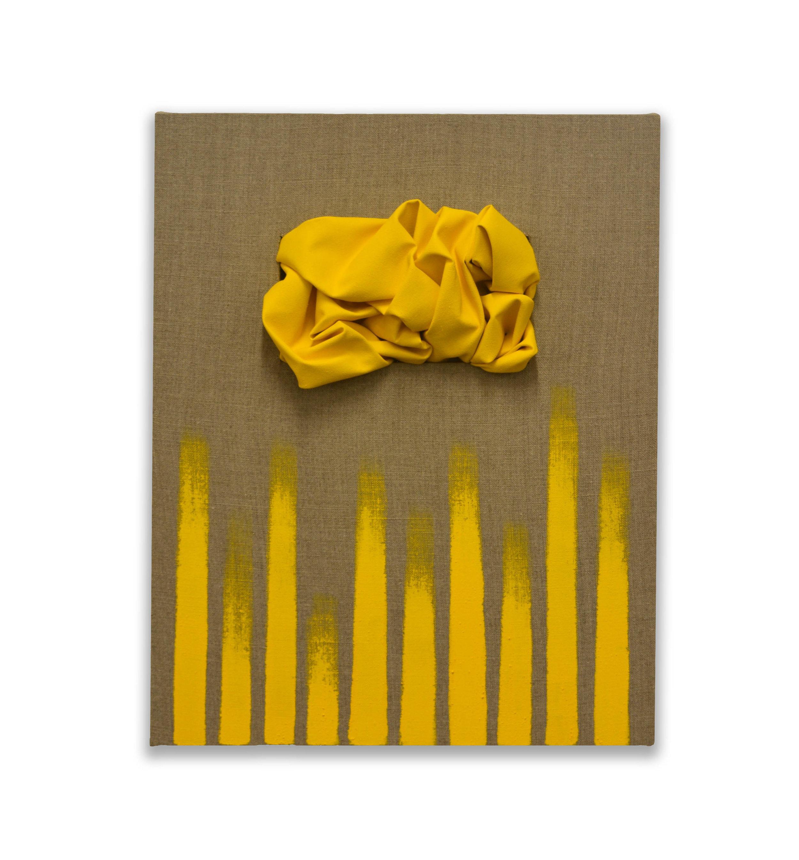 Sequential Cadmium  - 2018  Pigmento acrilico su tela di lino grezza  50 x 40 cm