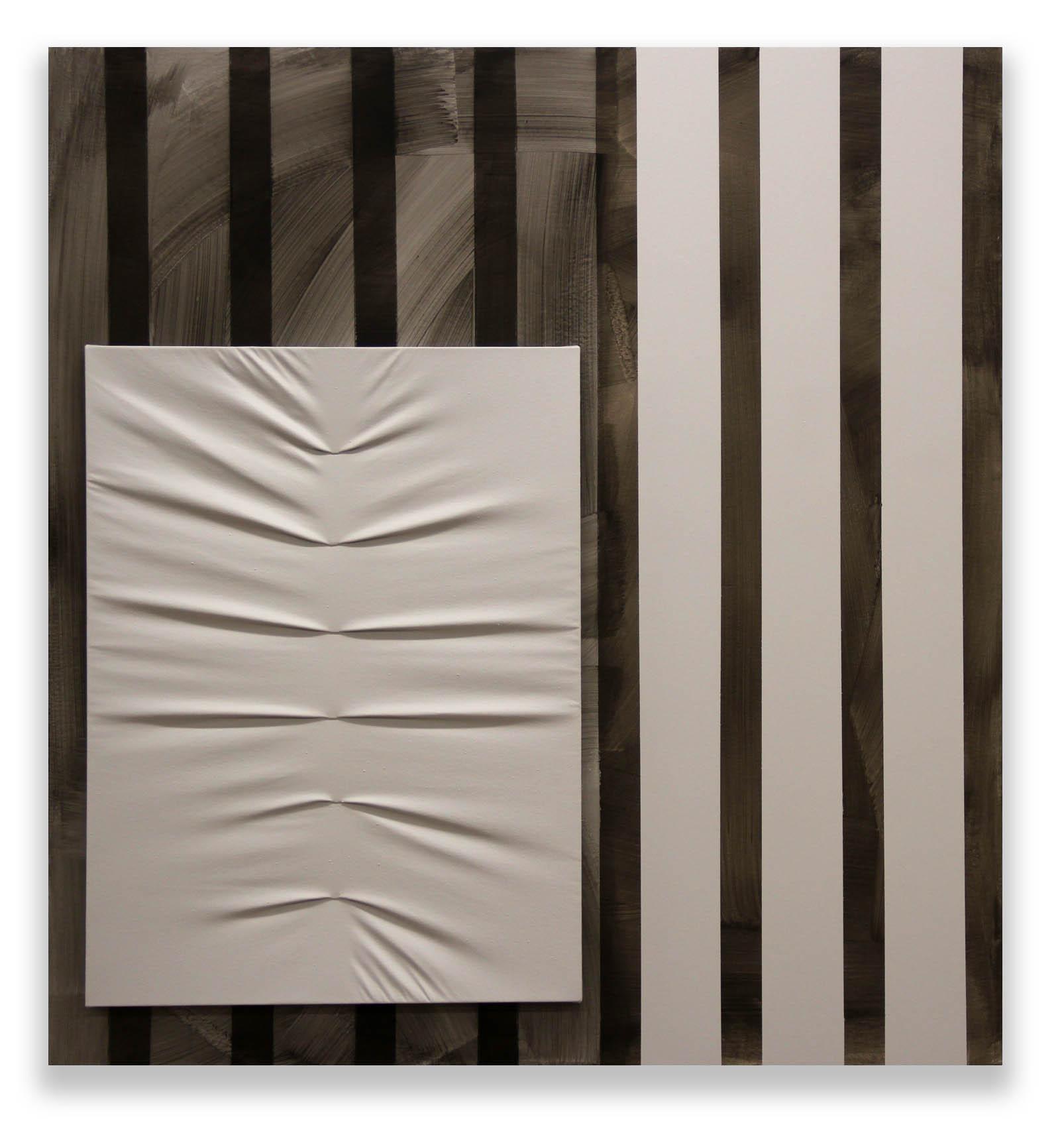 Neutral Balance  - 2017  Pigmento acrilico e bomboletta spray su tela montata su tavola  126,3 x 118 cm  Collezione Privata