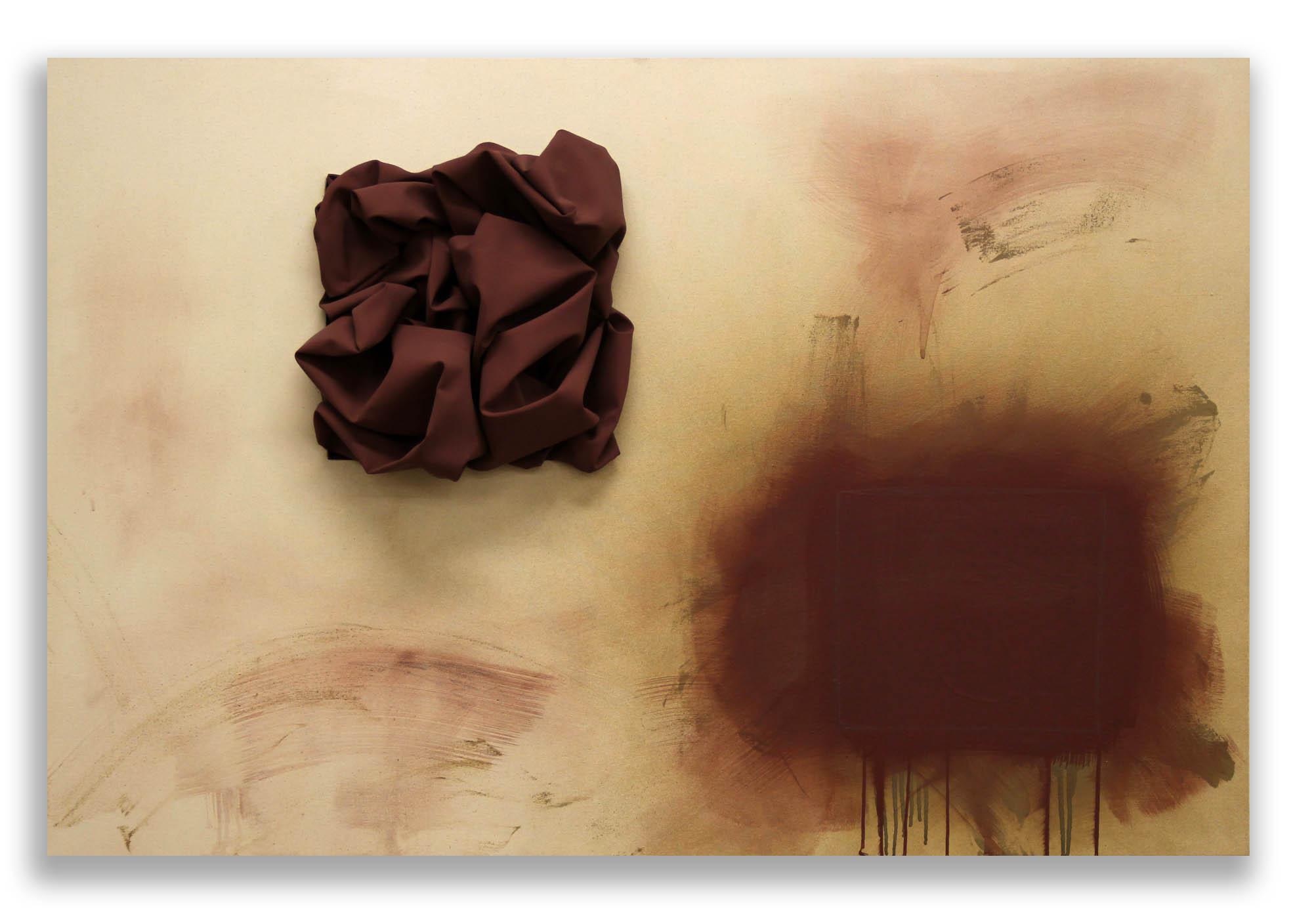 Genesis (Caput Mortuum)  - 2017  Pigmento acrilico, bomboletta spray e grafite su tela di cotone grezza  110 x 150 cm