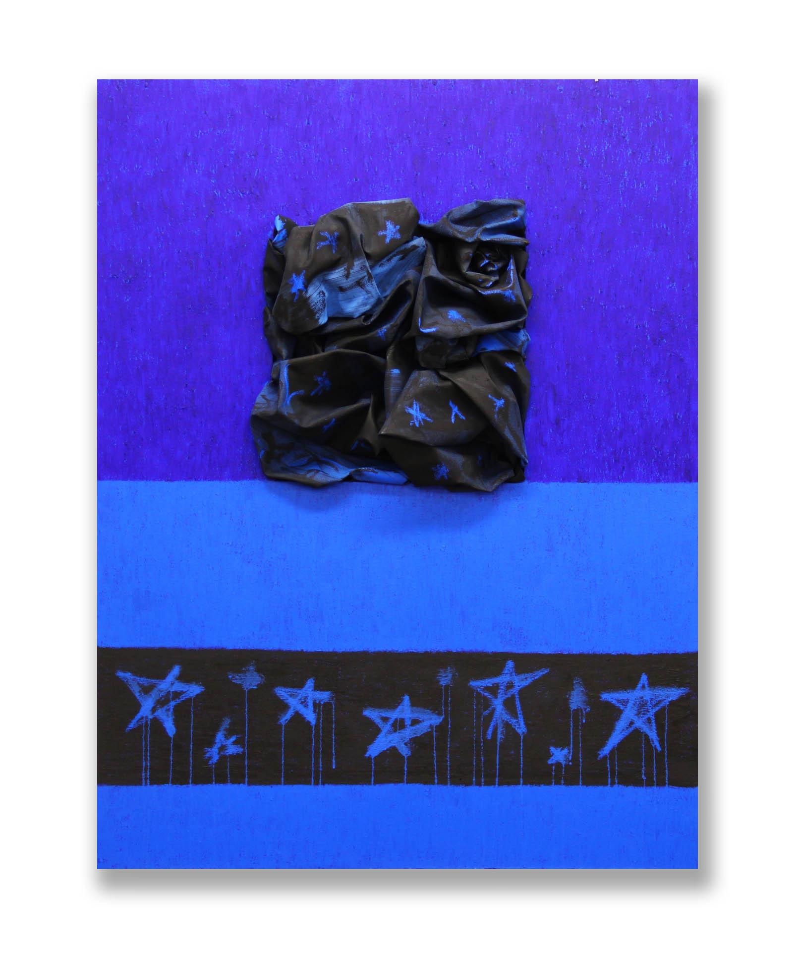 Stars Pathway  - 2017  Pigmento acrilico, bomboletta spray e oil stick su tela  130 x 110 cm