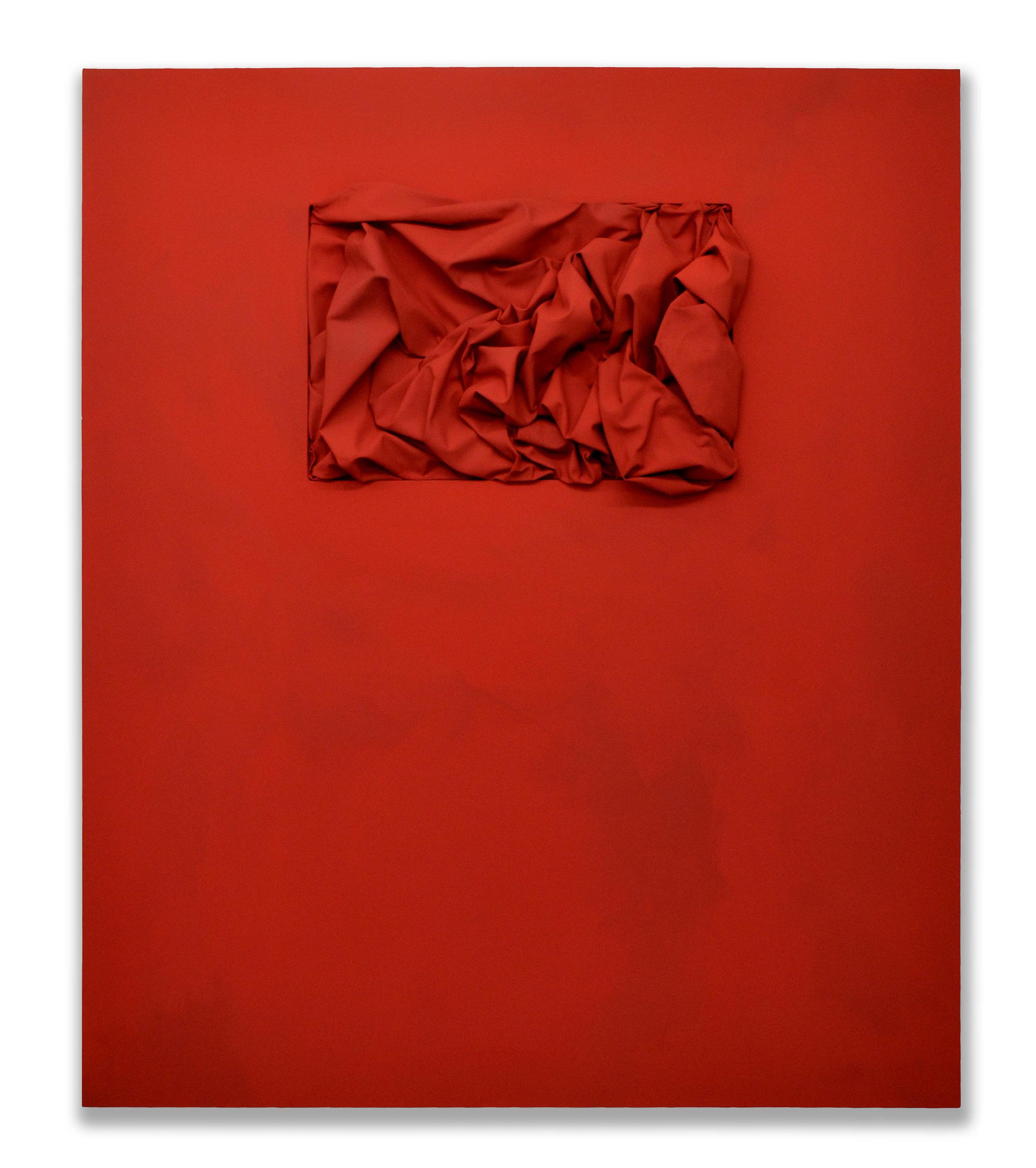 Inside Cadmium  - 2017  Pigmento acrilico su tela  150 x 125 cm