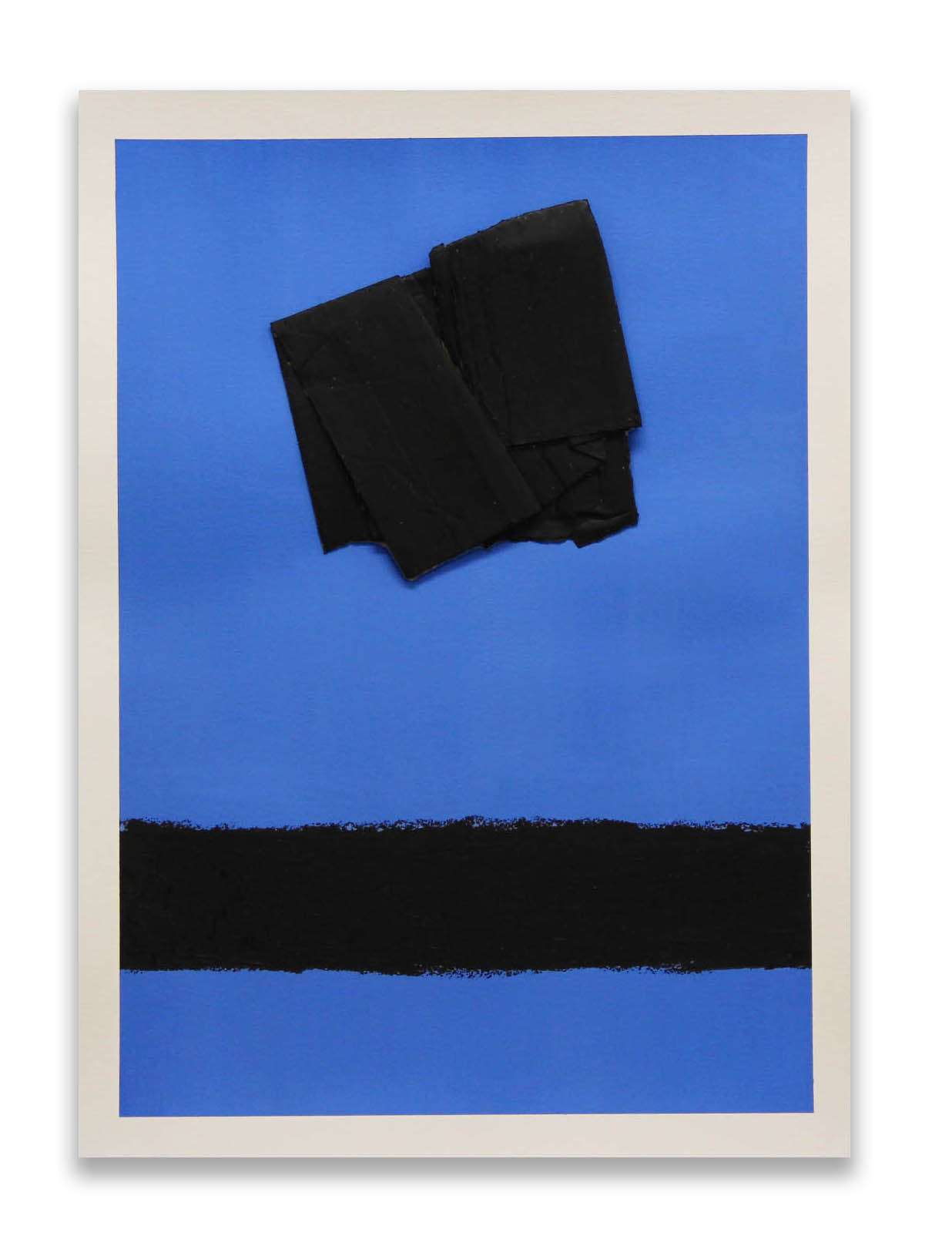 Black Pathway  - 2017  Pigmento acrilico, oil stick e cartone su carta  76 x 56 cm