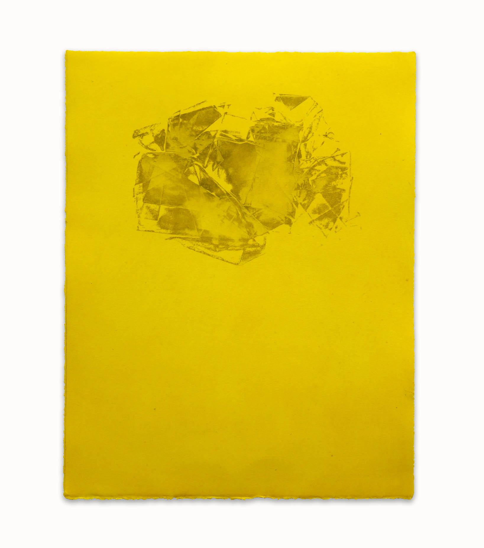 Inside Cadmium Yellow  - 2017  Incisione su carta E 1/4  48,3 x 37,6 cm