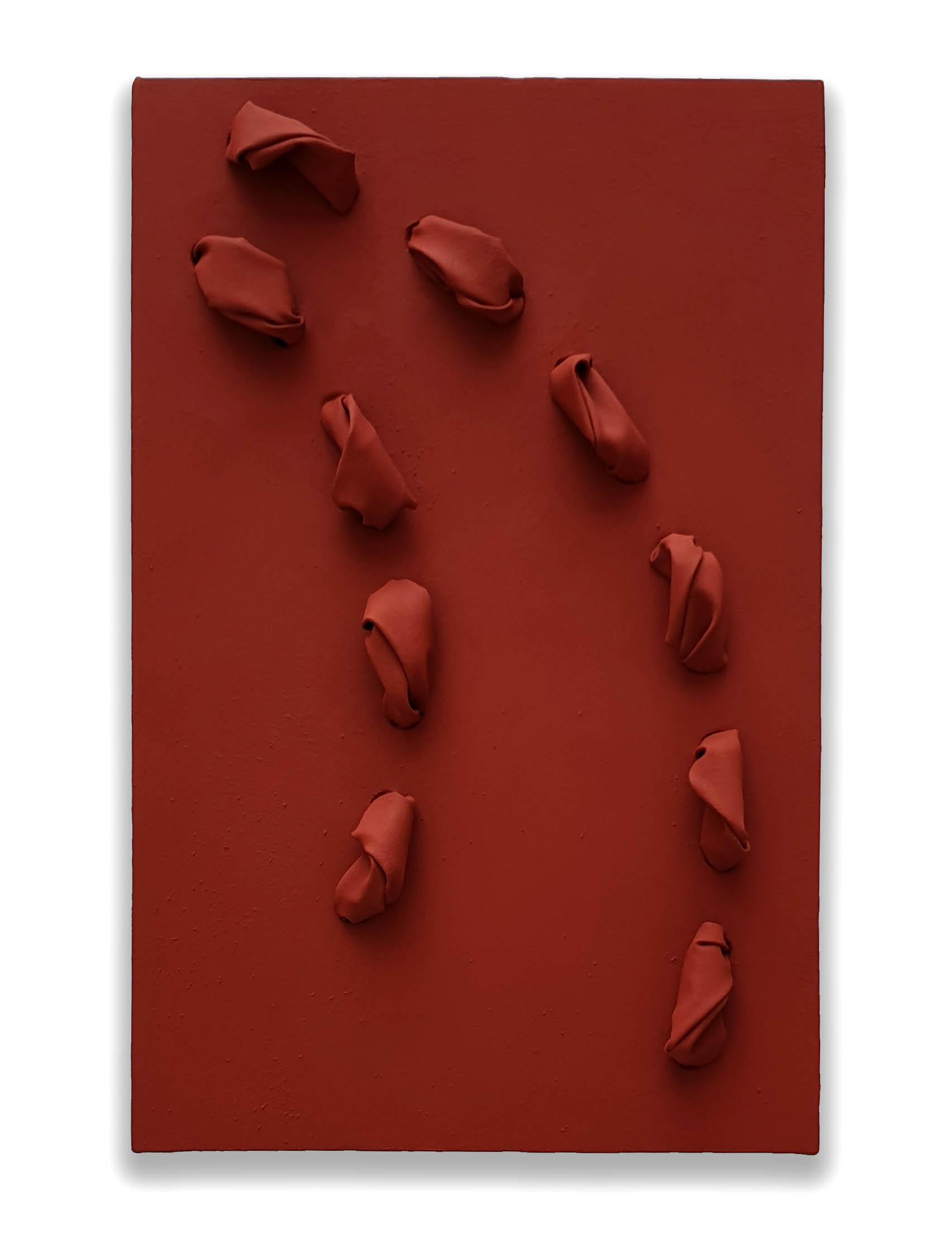 Venetian  - 2019  Pigmento acrilico su tela tesa su tavola  62 x 40 x 9,8 cm