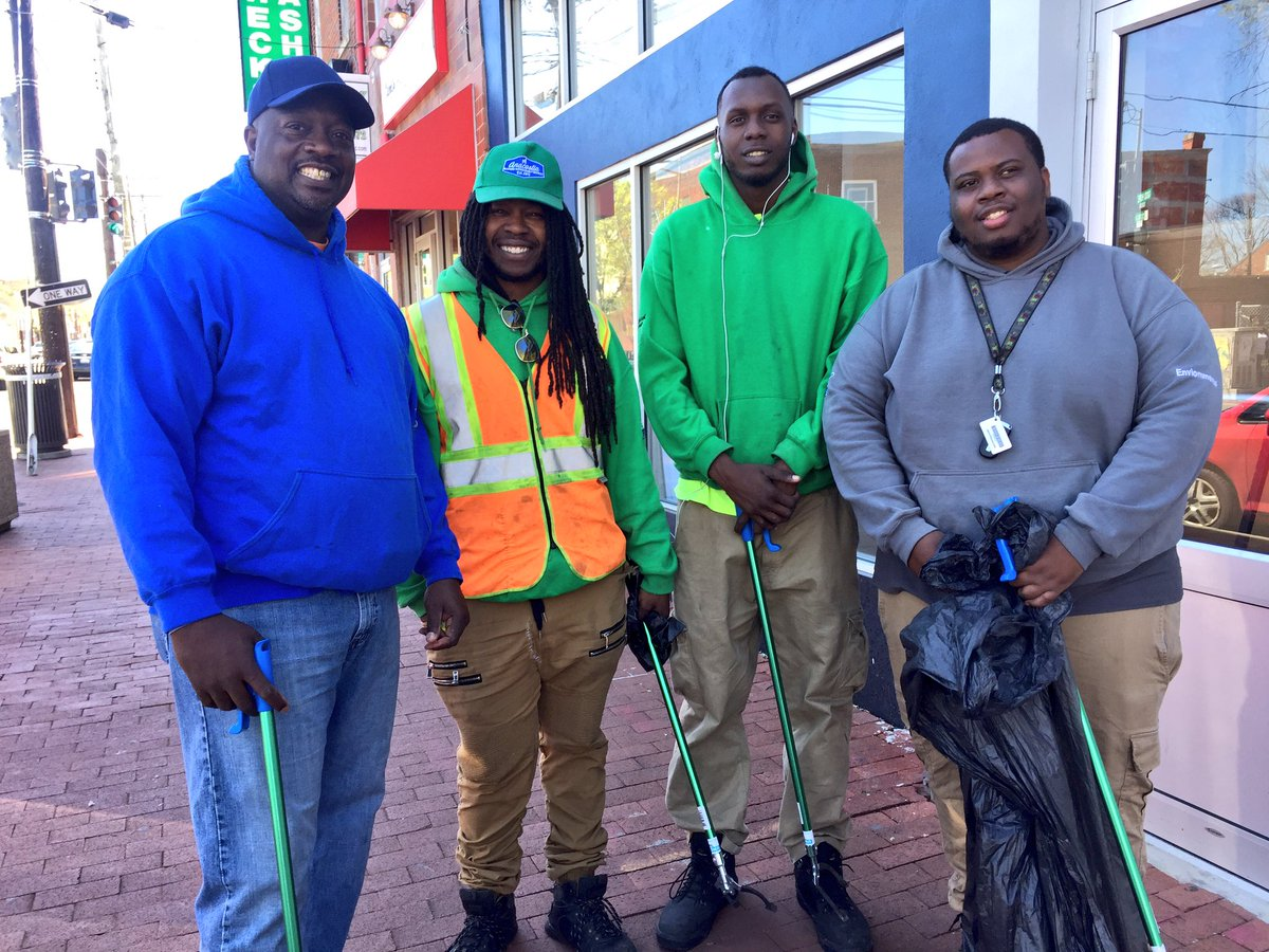 The Anacostia BID's Clean Team  is powered by CareerPath DC, a nonprofit organization.