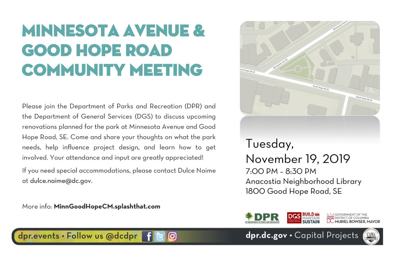 Minnesota Ave&Good Hope Community Meeting Flyer_ November 2019_final.png