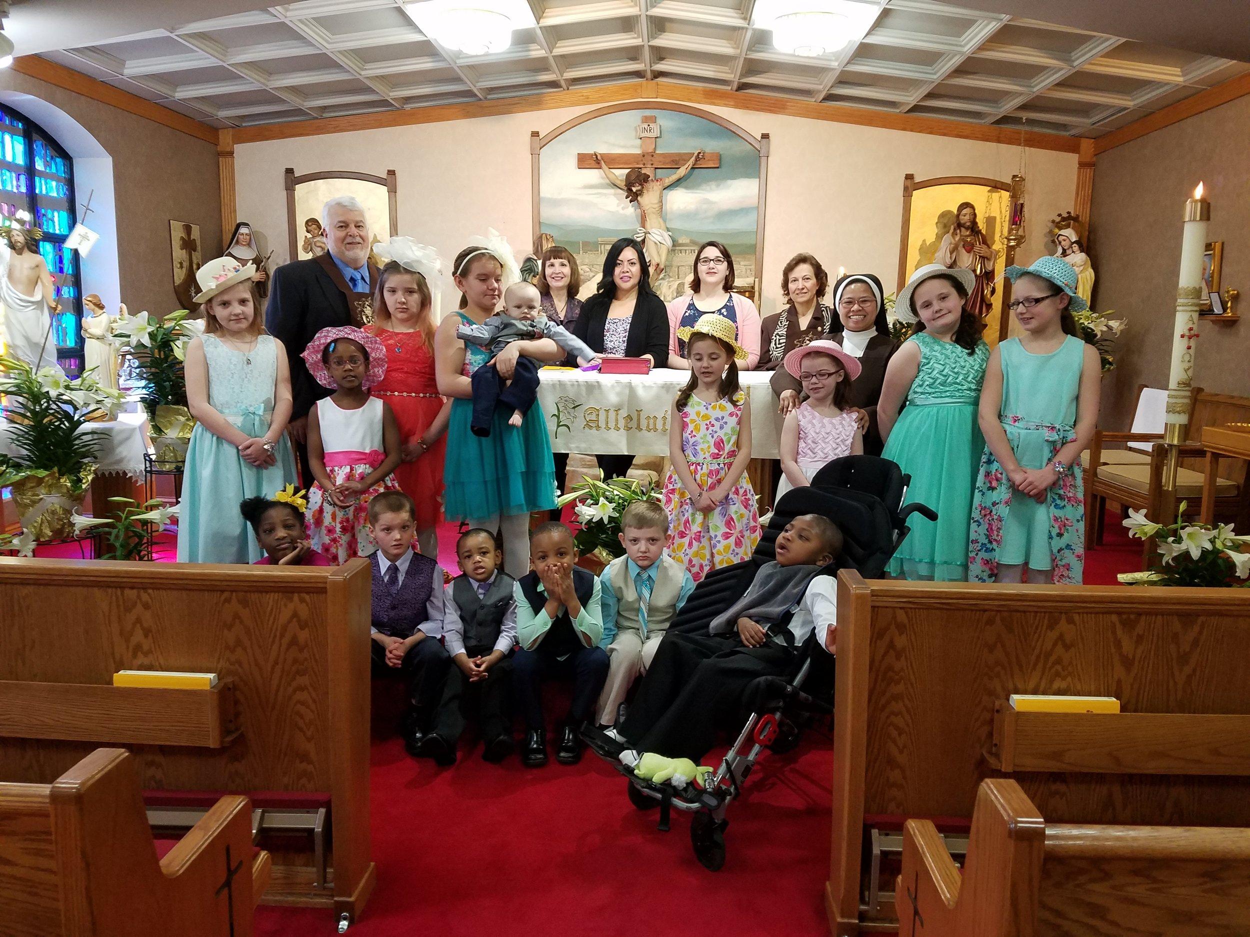 - Ghanem and Mary at the St. Joseph Carmelite Home, Easter 2018