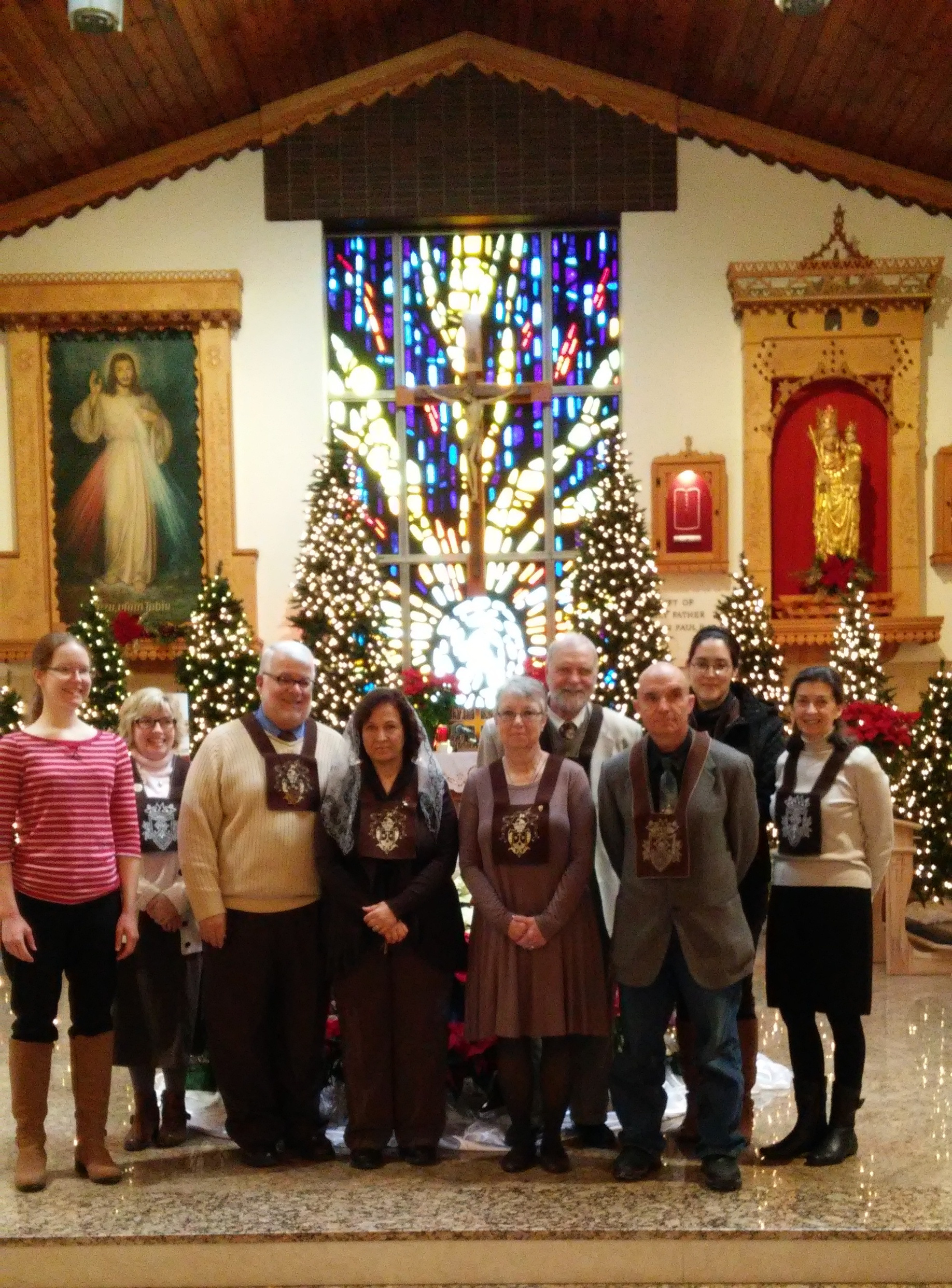 First Promises at Mass - Ghanem and Mary following the 10 am Mass celebrated by Fr. Paul, OCD, on January 27, 2019.
