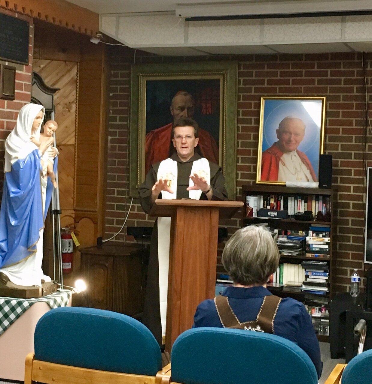 Secular Carmelite Retreat August 22, 2019 - Father Bronisław Socha, OCD, was our retreat master.