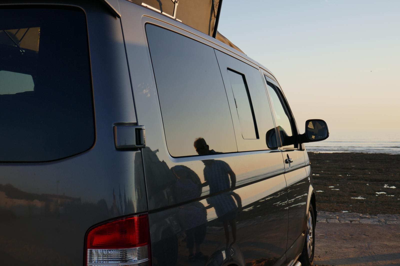 VW Campervan Side Sunset
