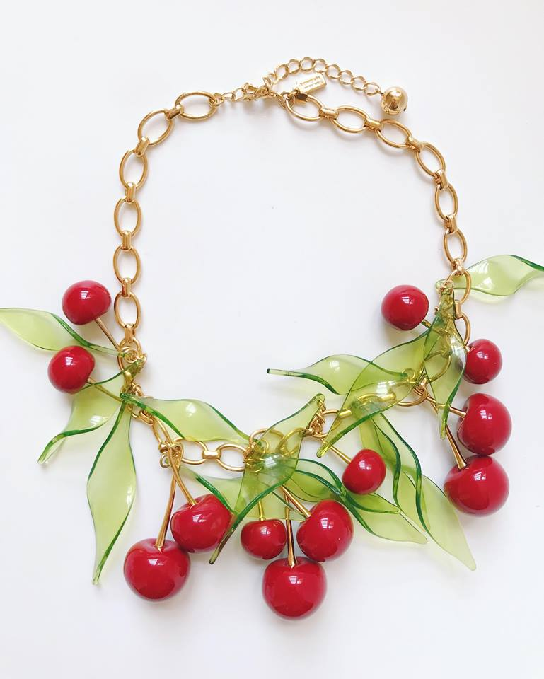kate spade cherries necklace
