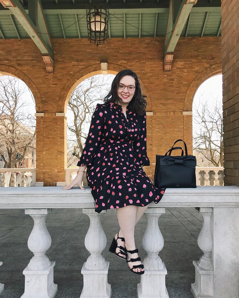 kate spade strawberry dress