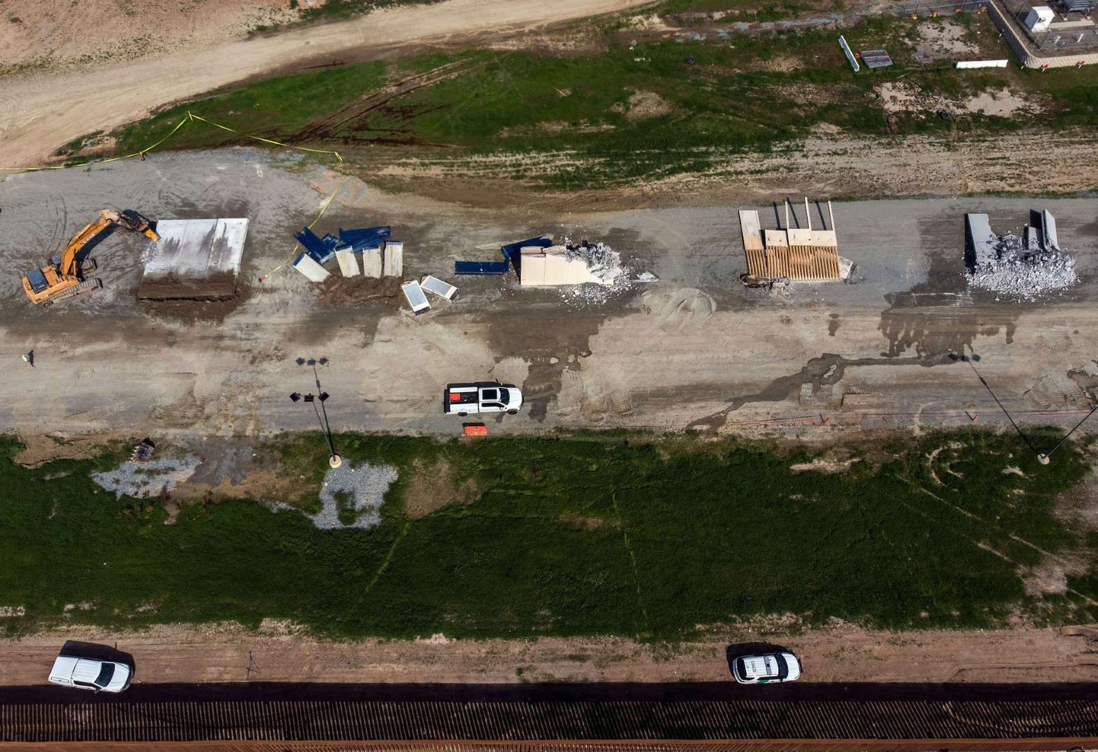 The prototypes for the US-Mexico border wall have been demolished.  @Independent