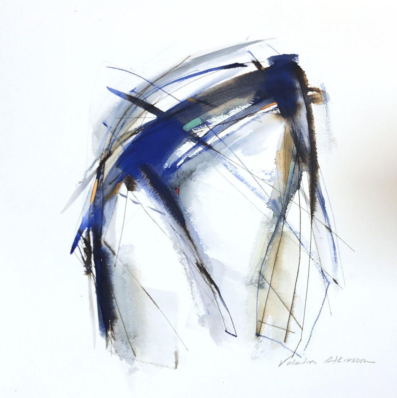Valentina Atkinson, Tiempo de Cuatro, 2017, Watercolor and ink on paper, 14 x 14 in.