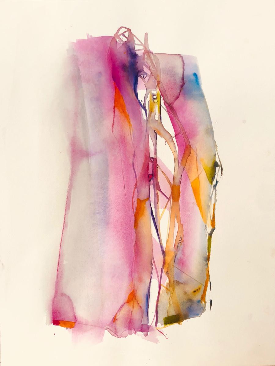 Valentina Atkinson, Hilos, 2018, Watercolor, 24 x 22 in.