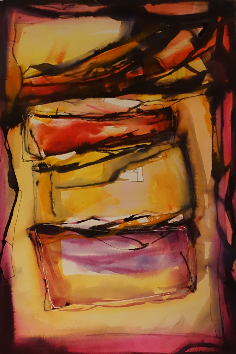Valentina Atkinson, Zepo, Watercolor and Ink, 1635 x 23 in. SOLD.