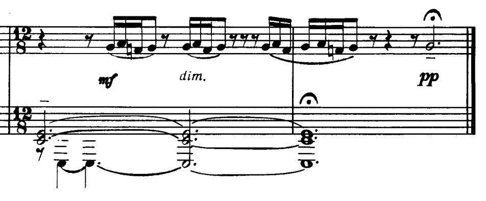 From Etude-Tableaux Op. 33, No. 5. Both hands are in bass clef.