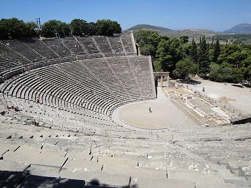 The Greek amphitheatre at Epidauros, courtesy of Wikipedia.