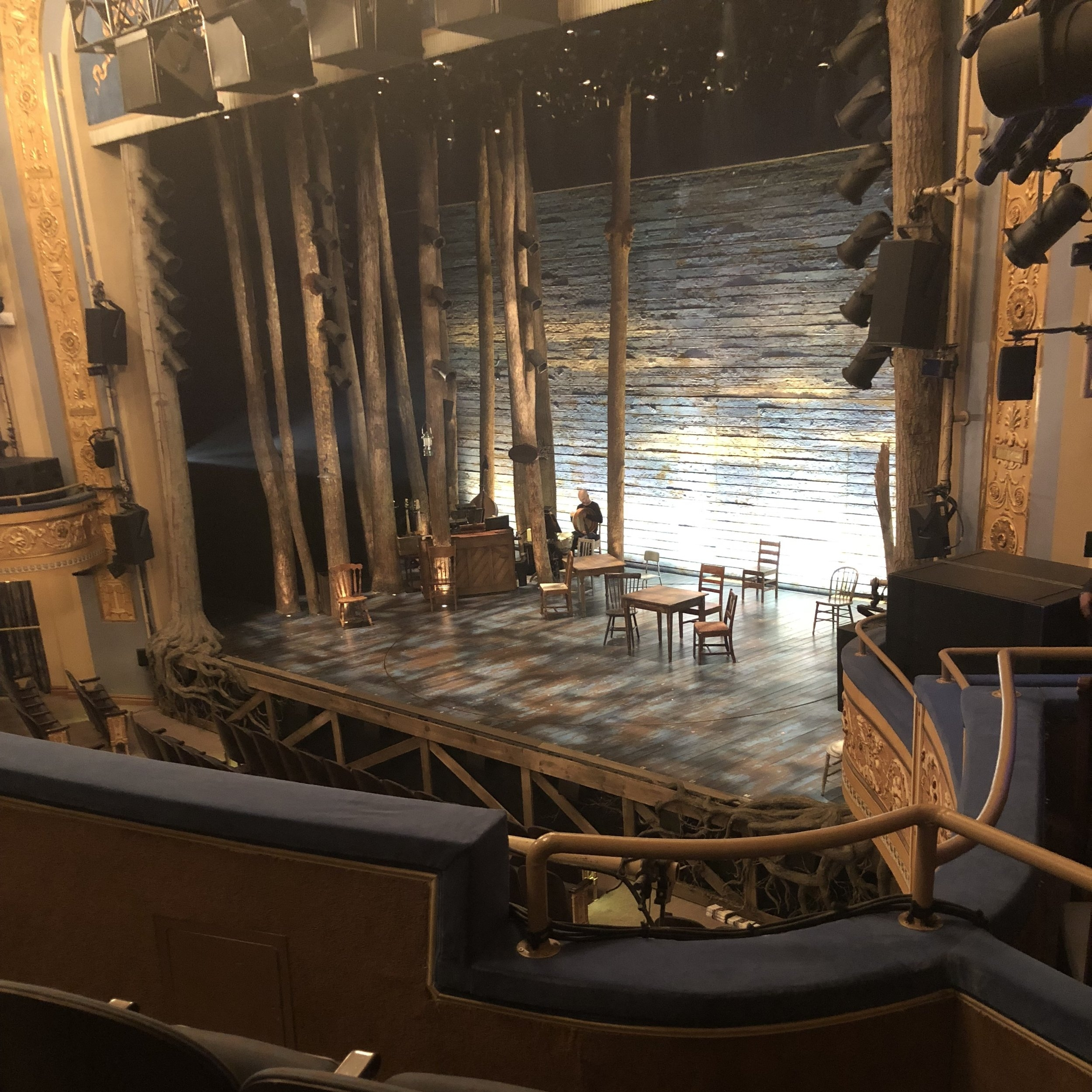 The set design for Come From Away. Picture taken by me.