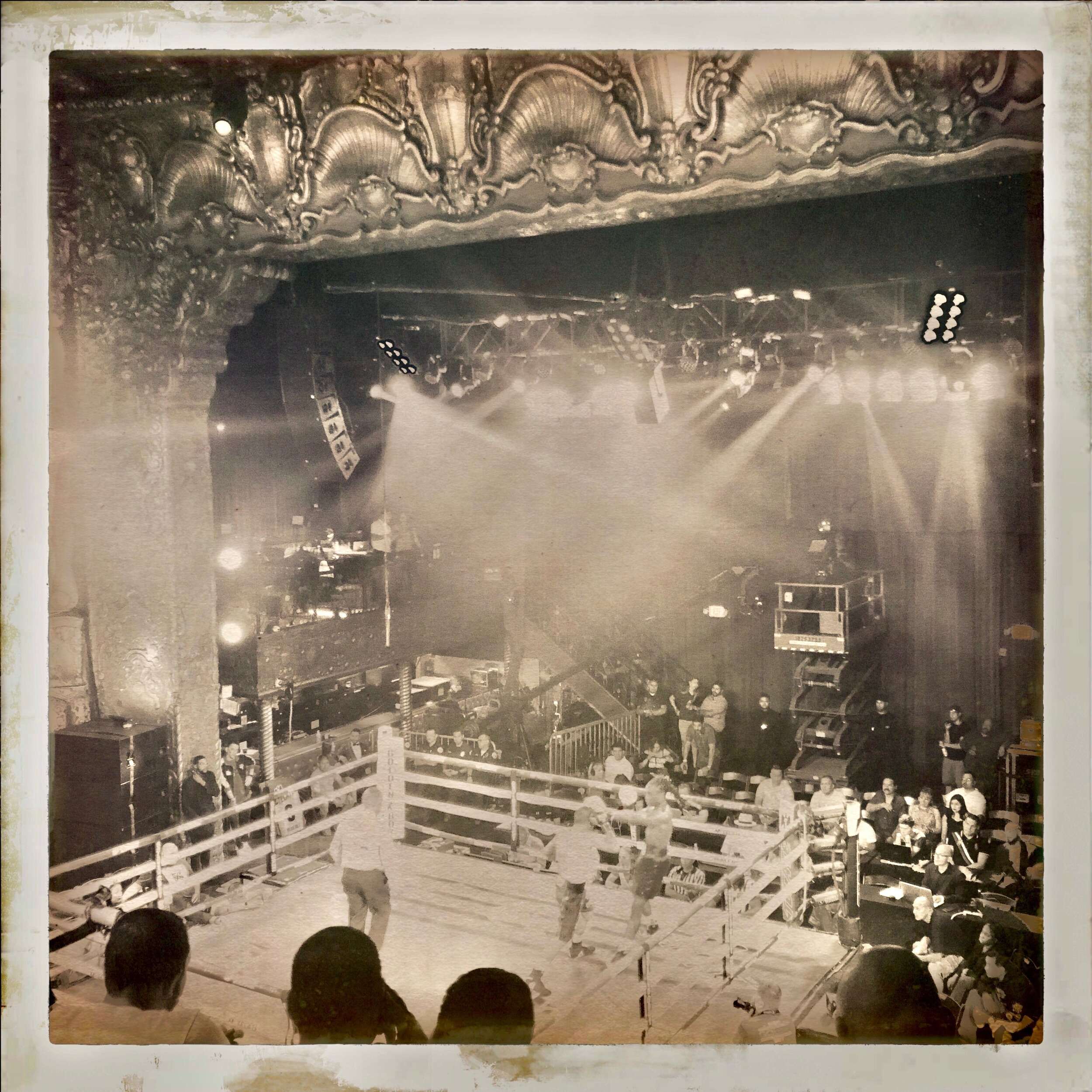 Hipstamatic Boxing, Belasco Theater, Los Angeles, 9-5-19