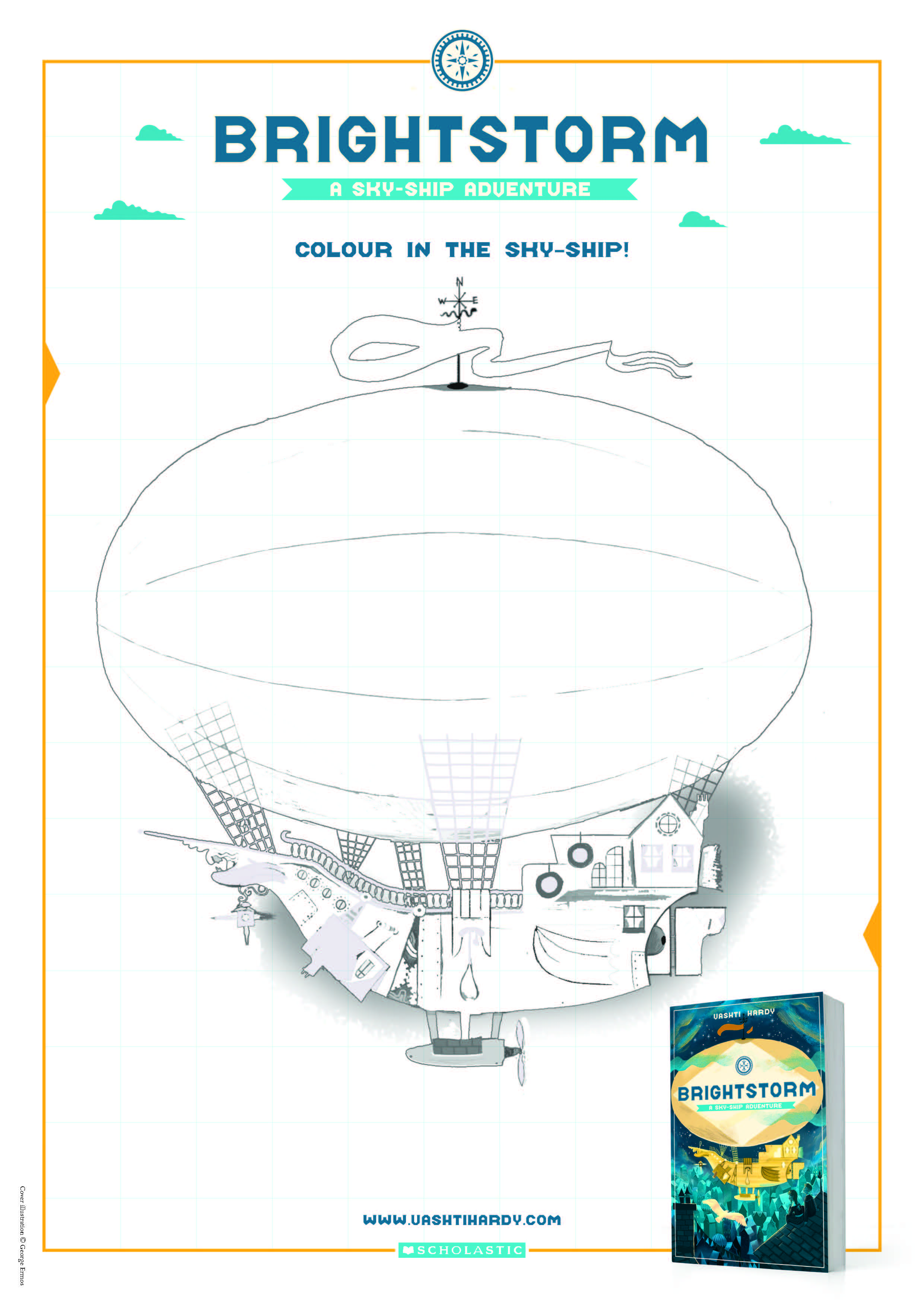 Colour a sky-ship