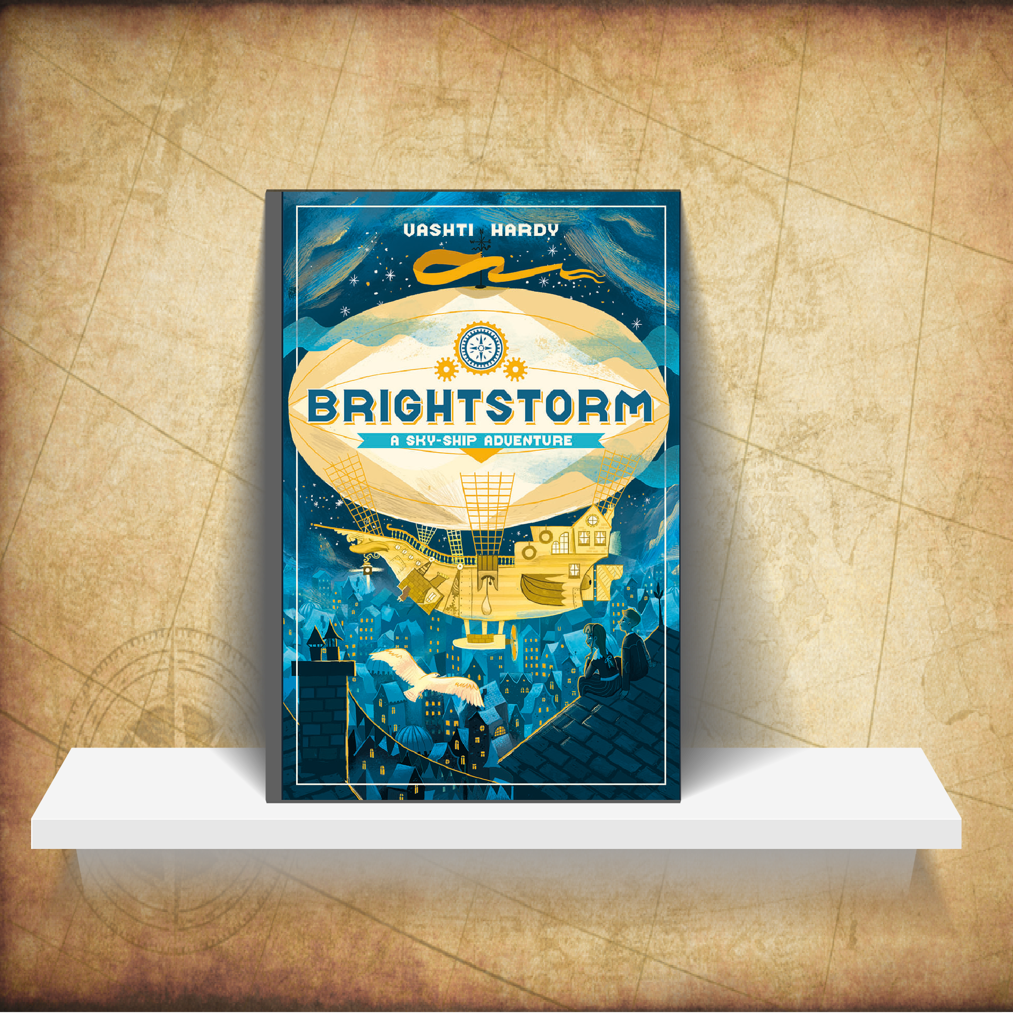 Brightstorm - Twins Arthur and Maudie Brightstorm receive word in Lontown that their famous explorer father has died in a failed attempt to reach the southernmost point in the world. Not only that, but he has been accused of stealing fuel before he died! The twins don't believe the news, and they answer an ad to join a new attempt to reach South Polaris. It's their only hope of learning the truth ... and salvaging their family's reputation.