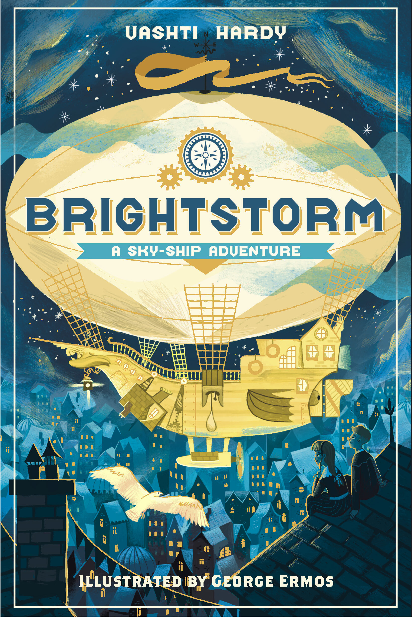 Brightstorm published by Norton Young Readers in North America - hardback edition with illustrations - Brightstorm by Vashti Hardy, illustrated by George ErmosISBN: 978-1-324-00564-3Pub date: March 17, 2020