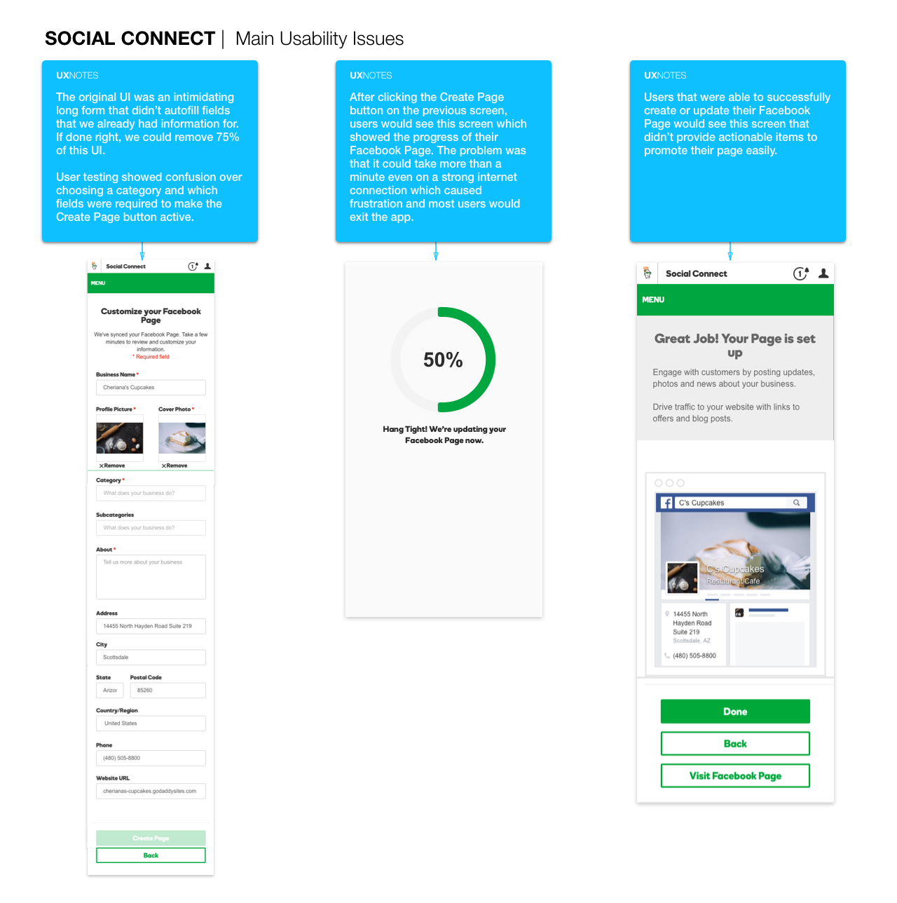 Evaluating Social Connect issues