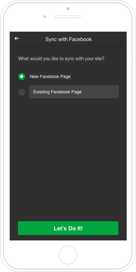 After logging in, users were able to create a new page or select from existing
