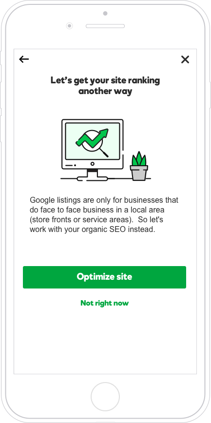 Businesses that aren't local don't qualify for Google My Business so we redirected their focus to their organic SEO instead