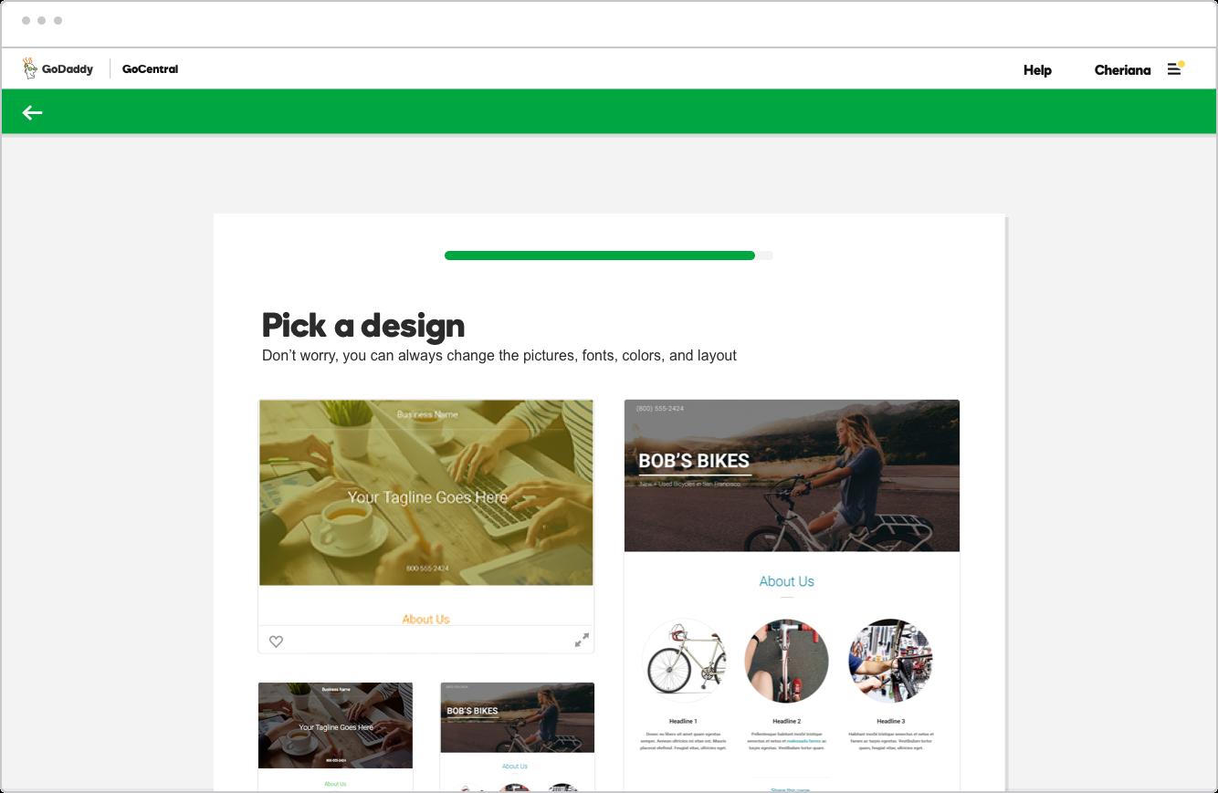 Step 3: Choose a design