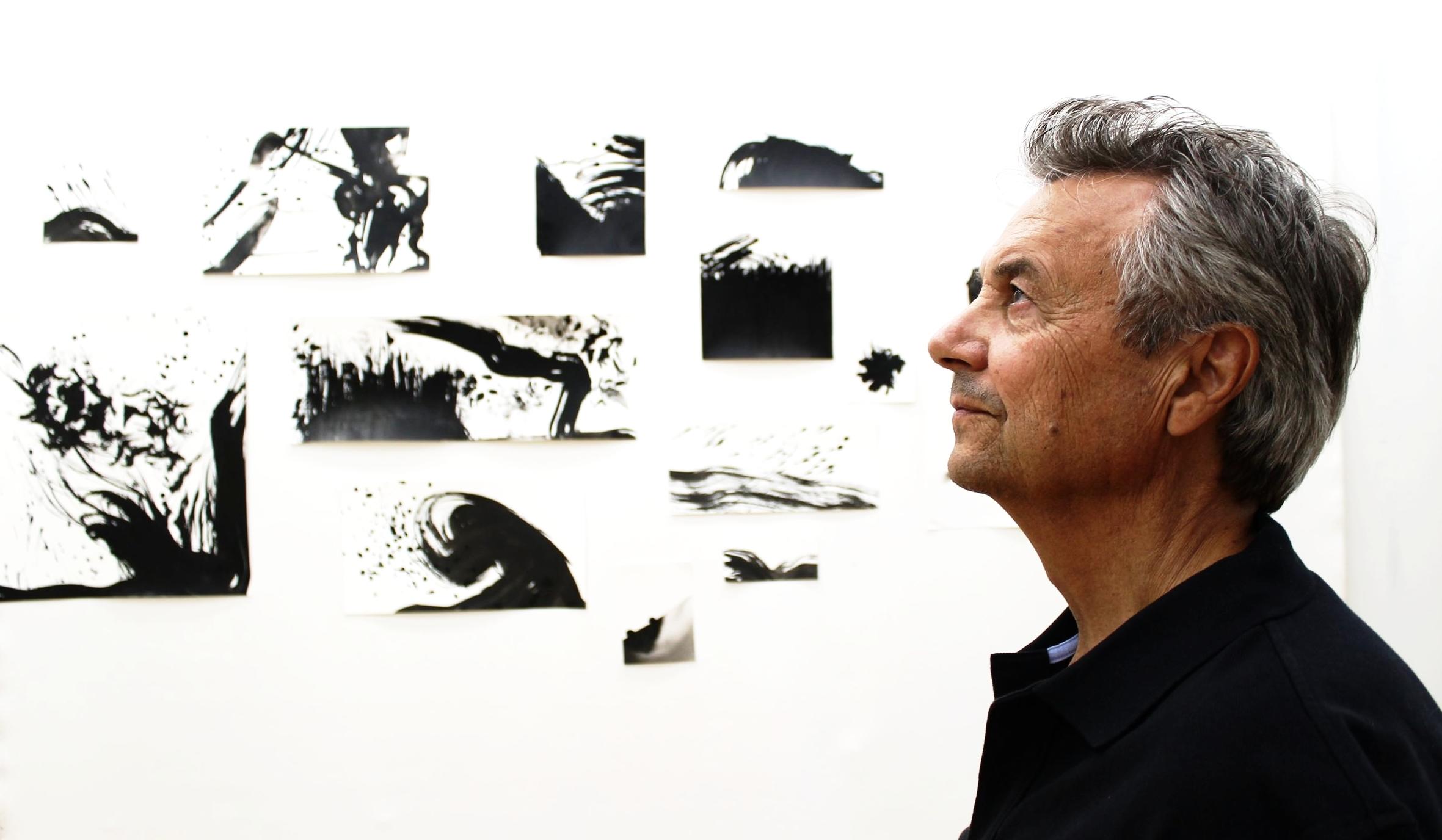 Brian in his studio, 2017