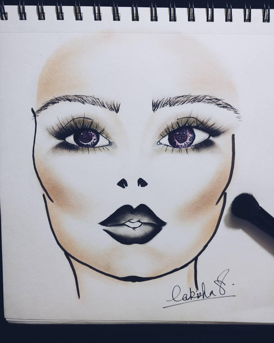 Makeup book sketch
